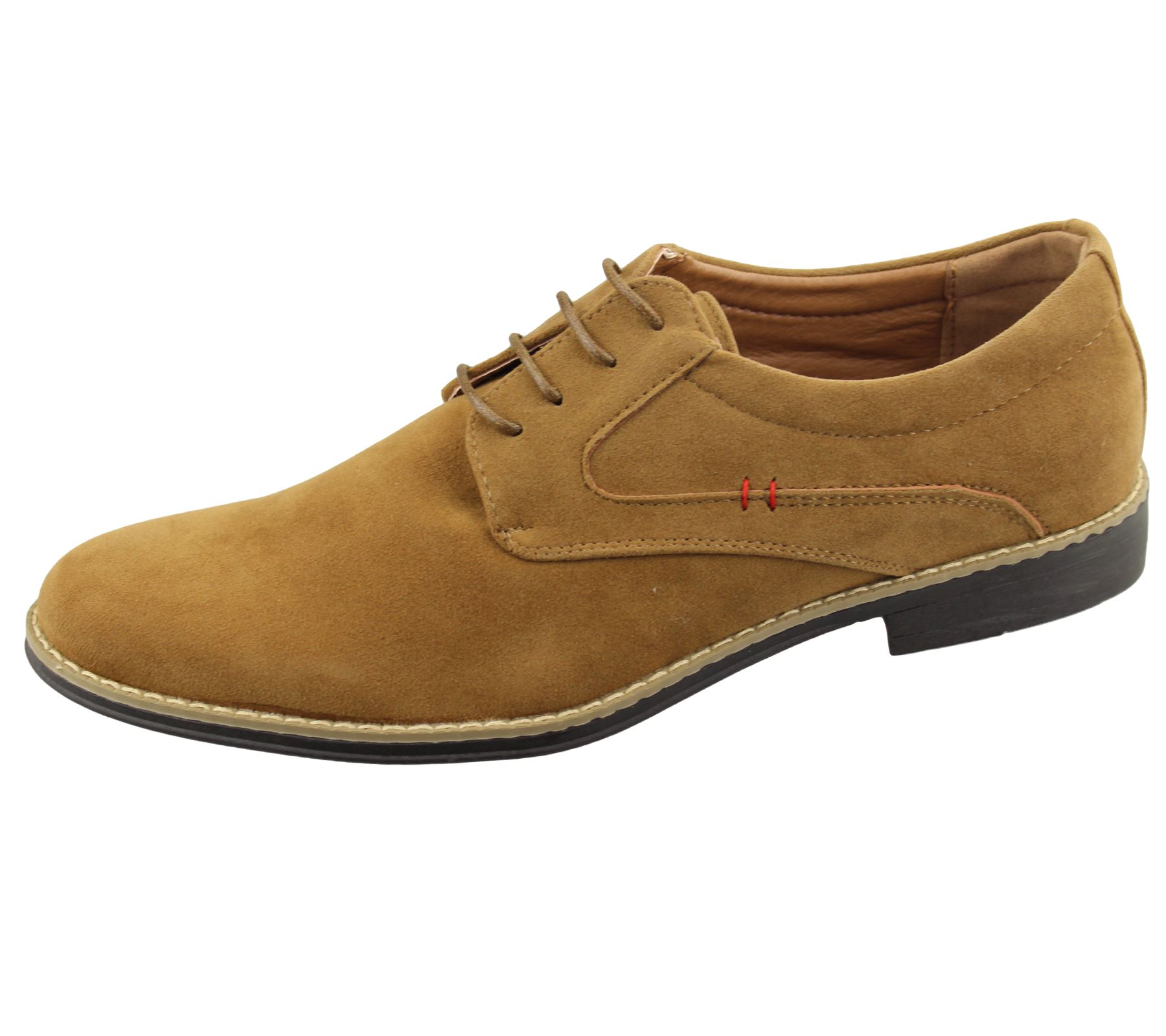 Mens Lace Up Formal Office Shoes Wedding Casual Flat Smart Suede