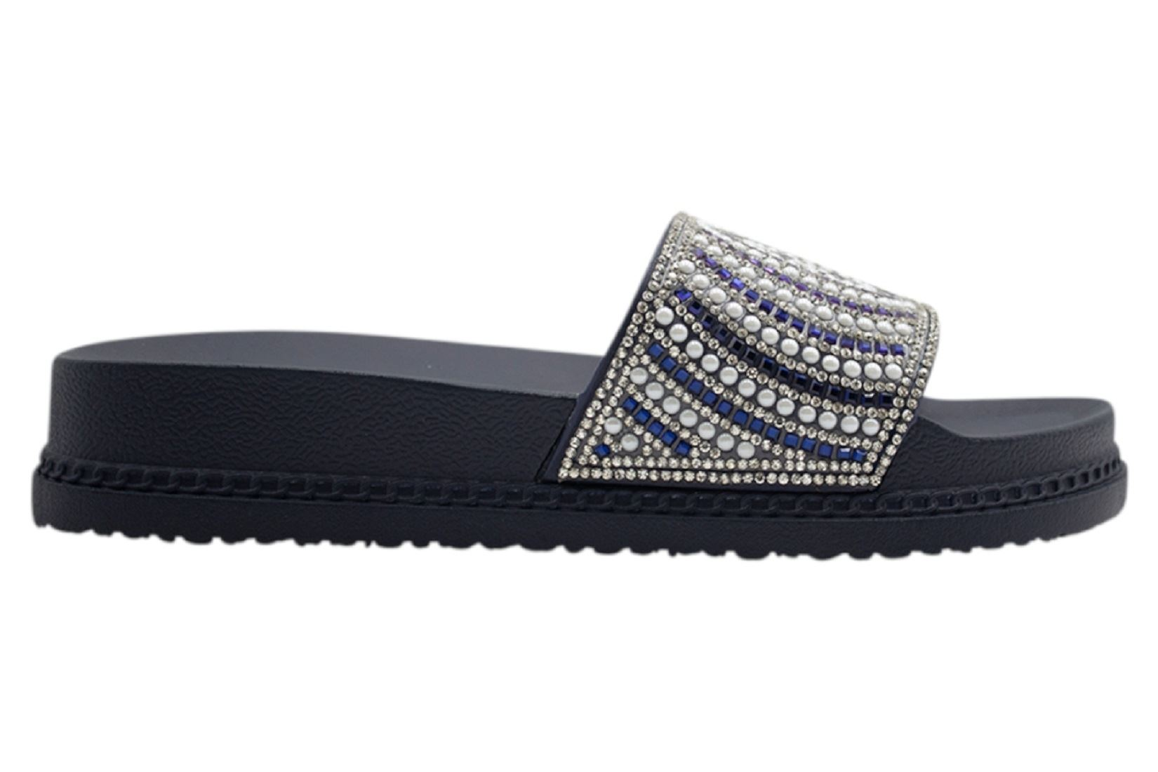 Womens-Sliders-Casual-Slippers-Mules-Ladies-Diamante-Flip-Flop-Sandals-Shoes thumbnail 54
