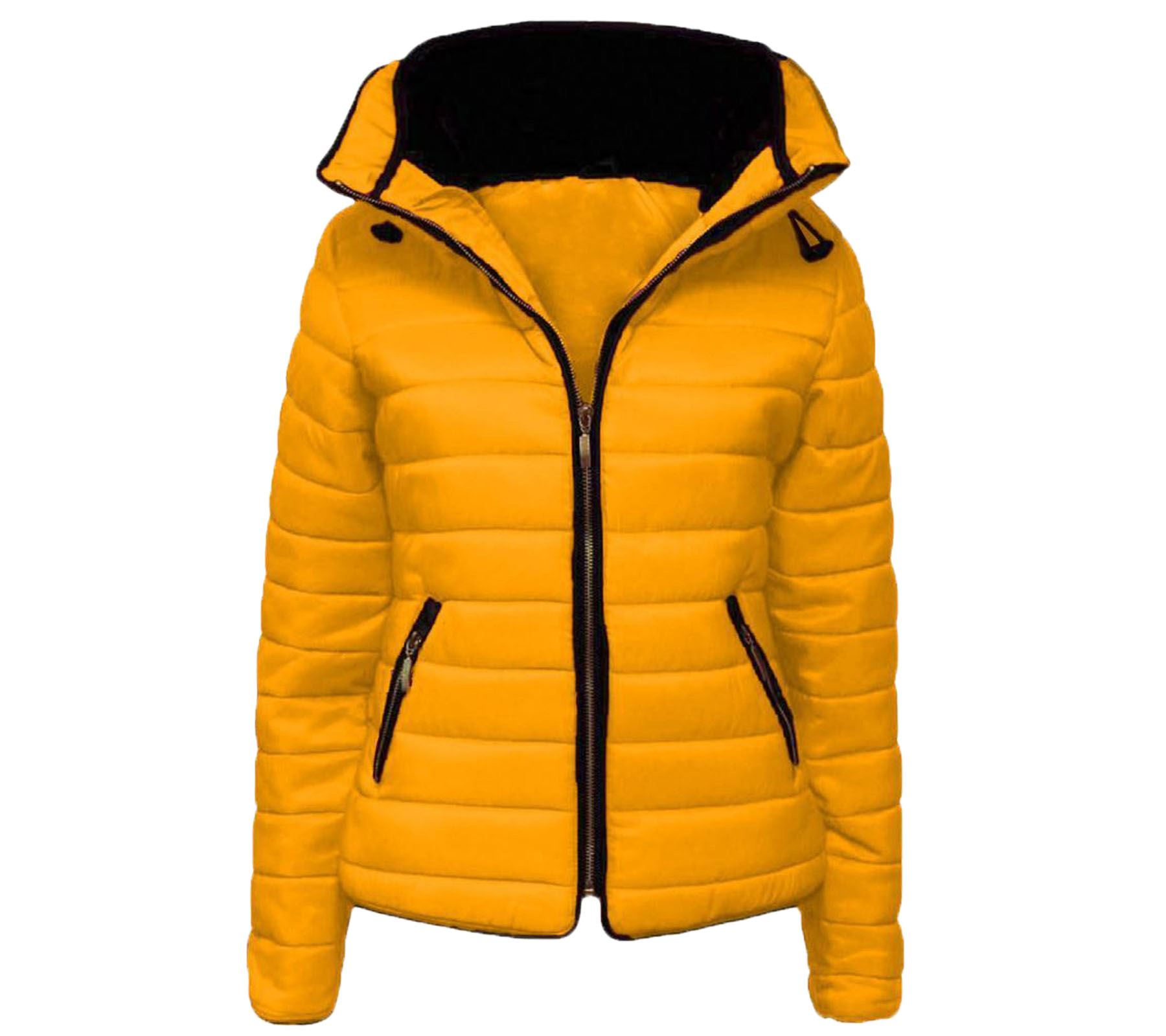 Girls Puffer Womens Collar Fur Hooded Padded Quilted Warm Jacket Oxw7wdqB4