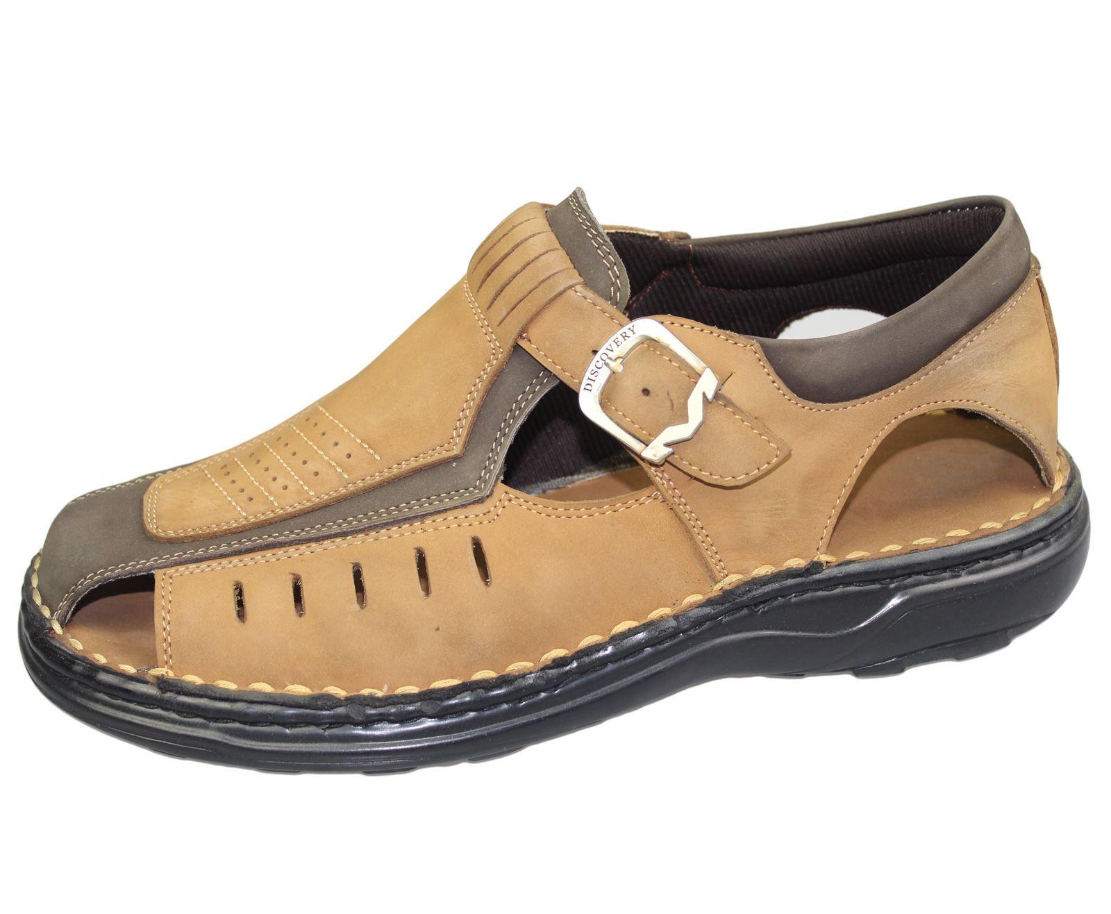 Mens-Buckle-Fastening-Sandals-Flat-Beach-Walking-Fashion-Casual-Summer-Slipper miniatura 3
