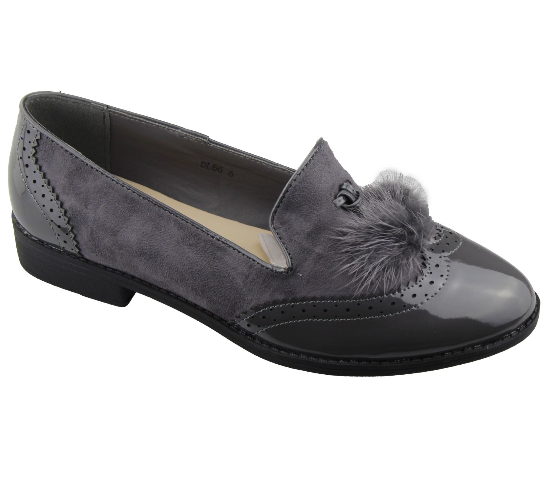 Mujer Sin Cordones TASEL CHAROL ANTE PLANO Oxford Zapatos Mocasines Zapatos Oxford 19d46f