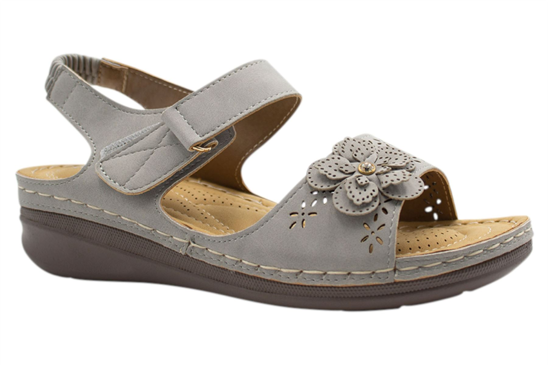 Ladies-Sandals-Womens-Mid-Heel-Comfort-Summer-Beach-Casual-Wear miniatura 27