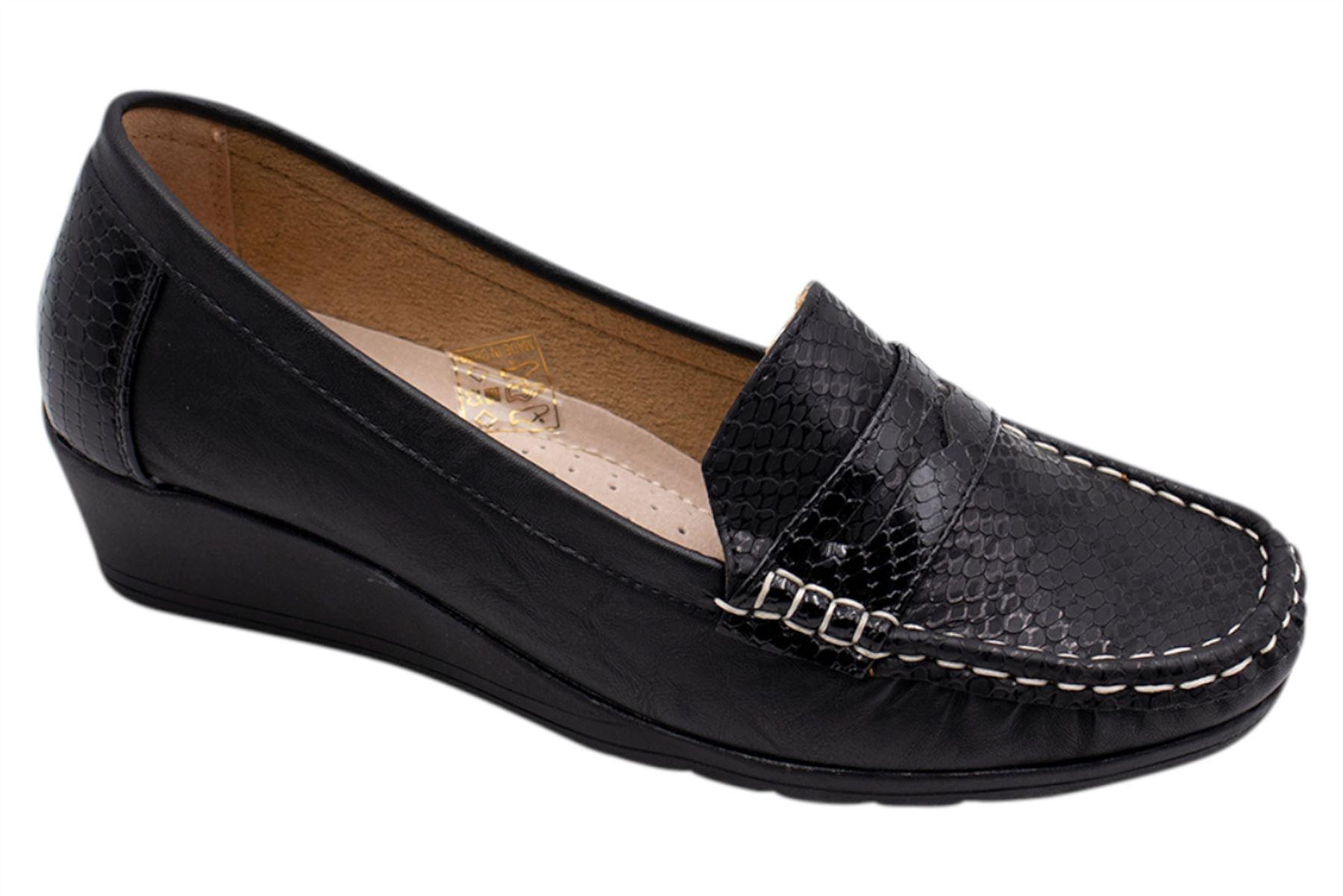 promo code 1c3ae b2b77 Details zu Womens Keilabsatz Schuhe Damen Pumps Büro Arbeit Freizeit  Slipper Größe