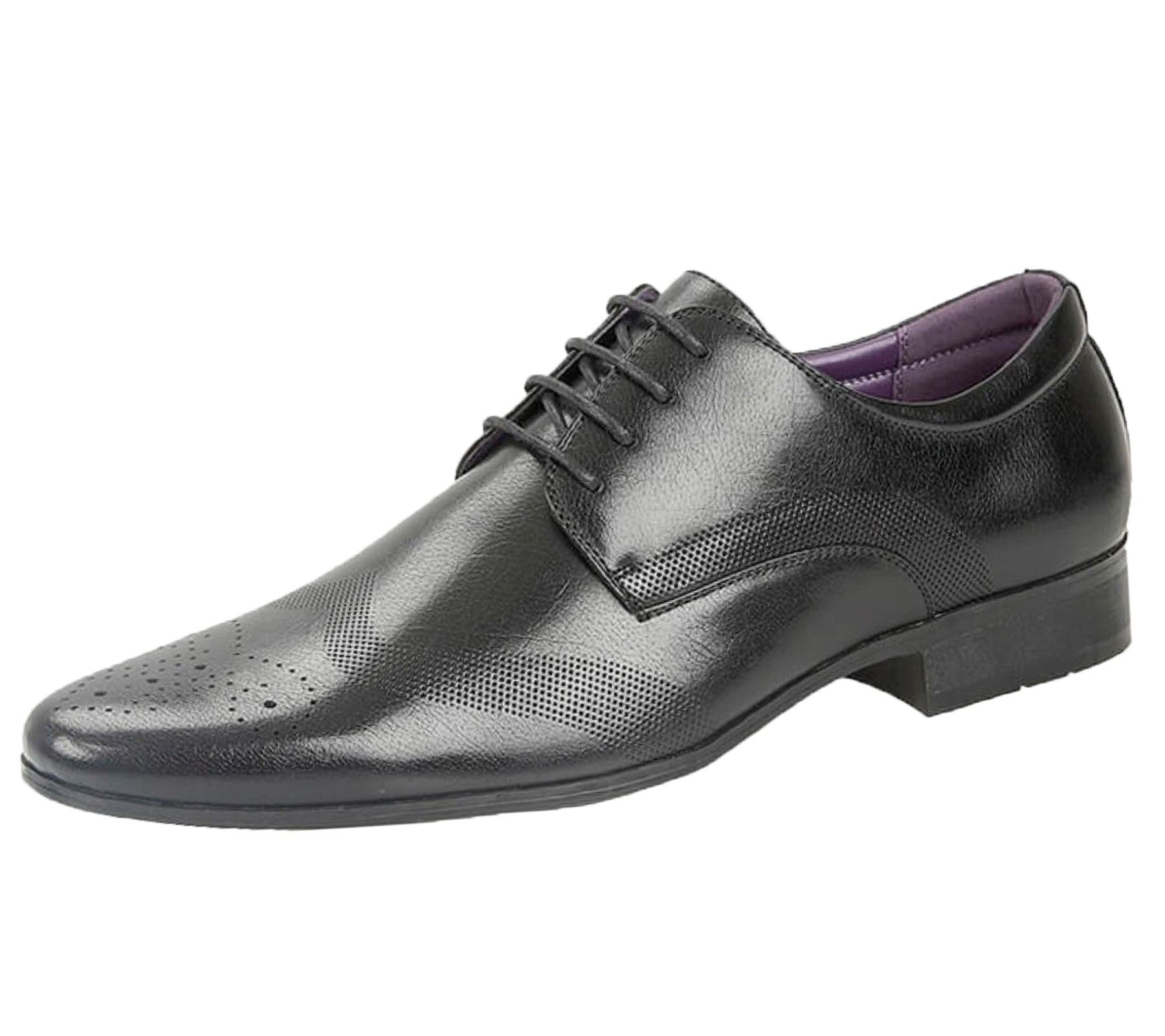 Mens-Brogues-Shoes-Office-Wedding-Formal-Smart-Dress-Shoes-New-Size miniatura 4