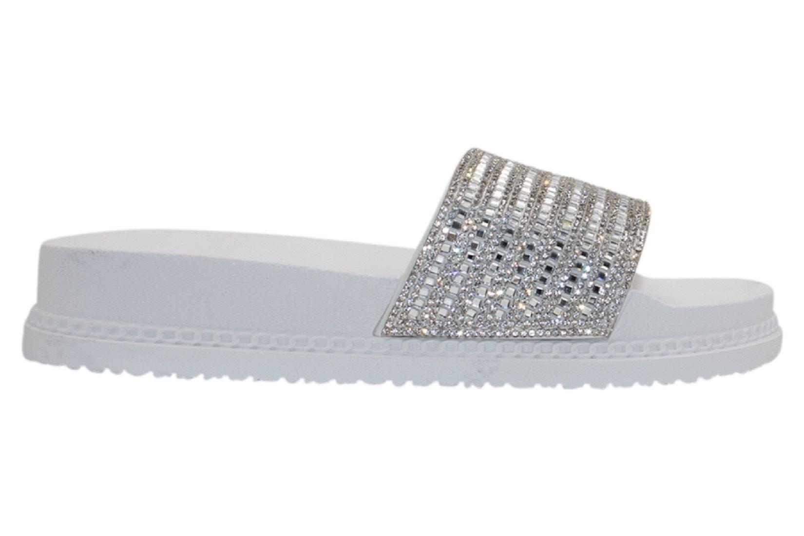 Womens-Sliders-Casual-Slippers-Mules-Ladies-Diamante-Flip-Flop-Sandals-Shoes thumbnail 87