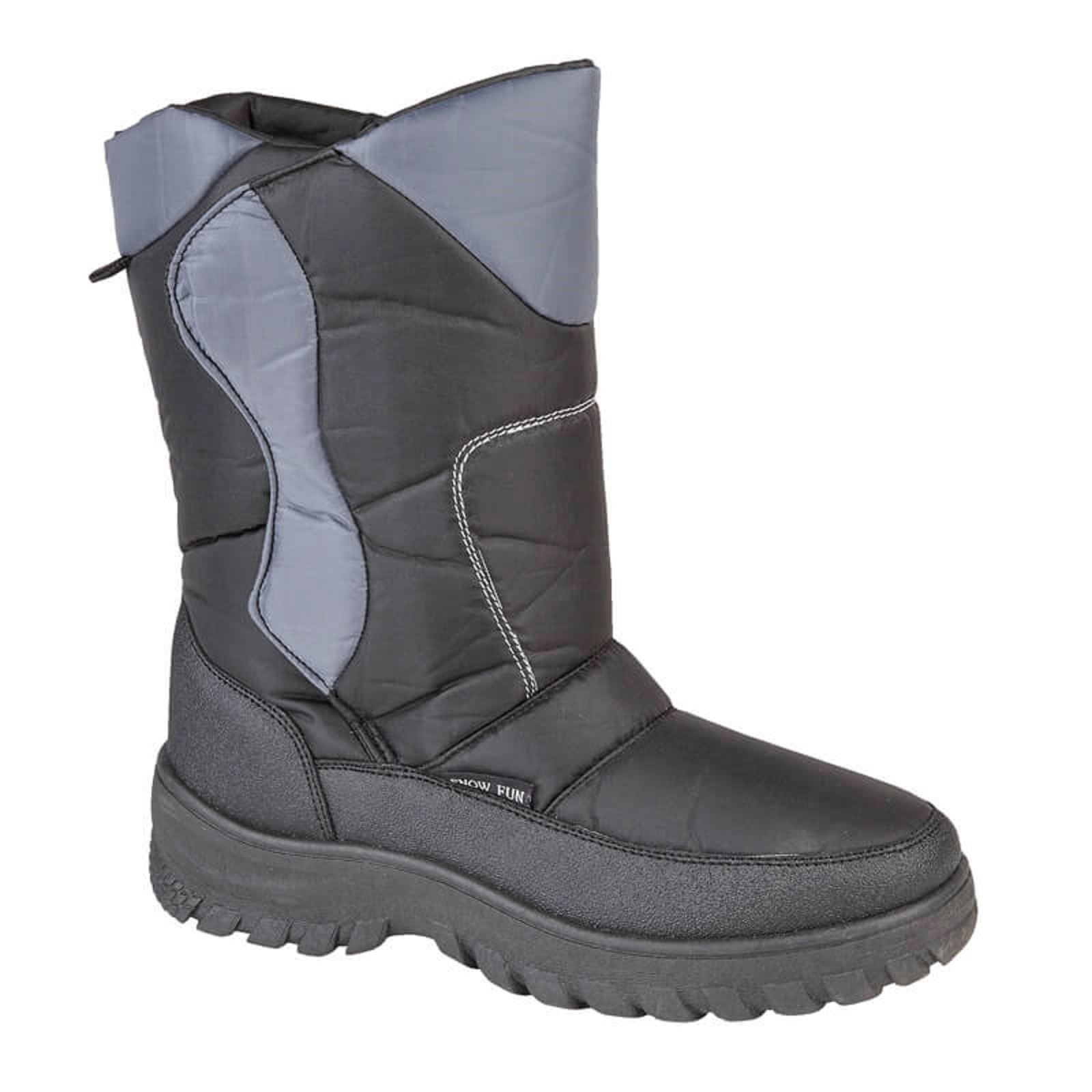 great deals on fashion picked up good Details about Mens Snow Boots Winter Thermal Warm Fur Lined Flat Shoes