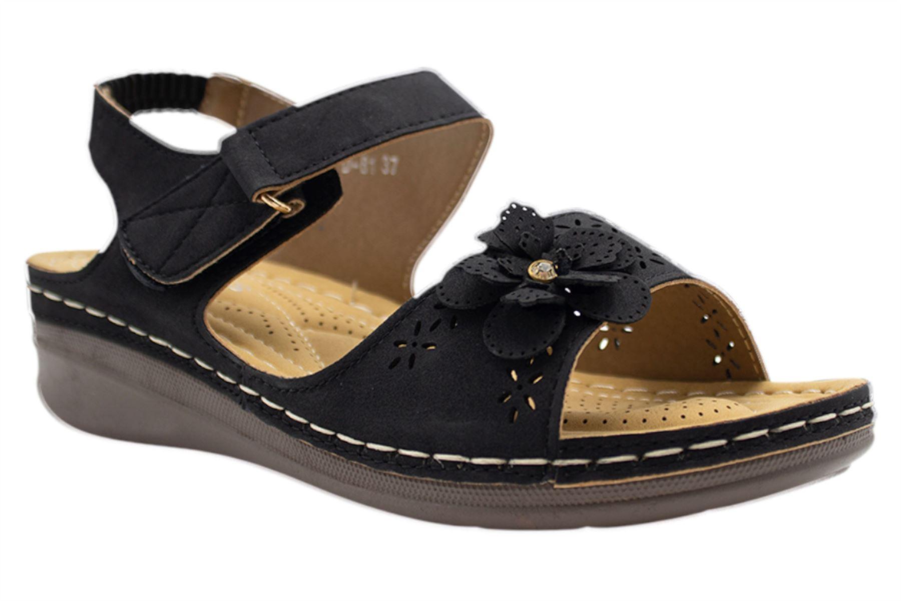 Ladies-Sandals-Womens-Mid-Heel-Comfort-Summer-Beach-Casual-Wear miniatura 12