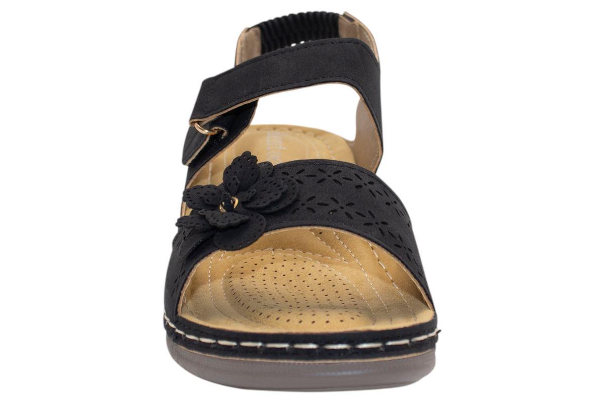 Ladies-Sandals-Womens-Mid-Heel-Comfort-Summer-Beach-Casual-Wear miniatura 5