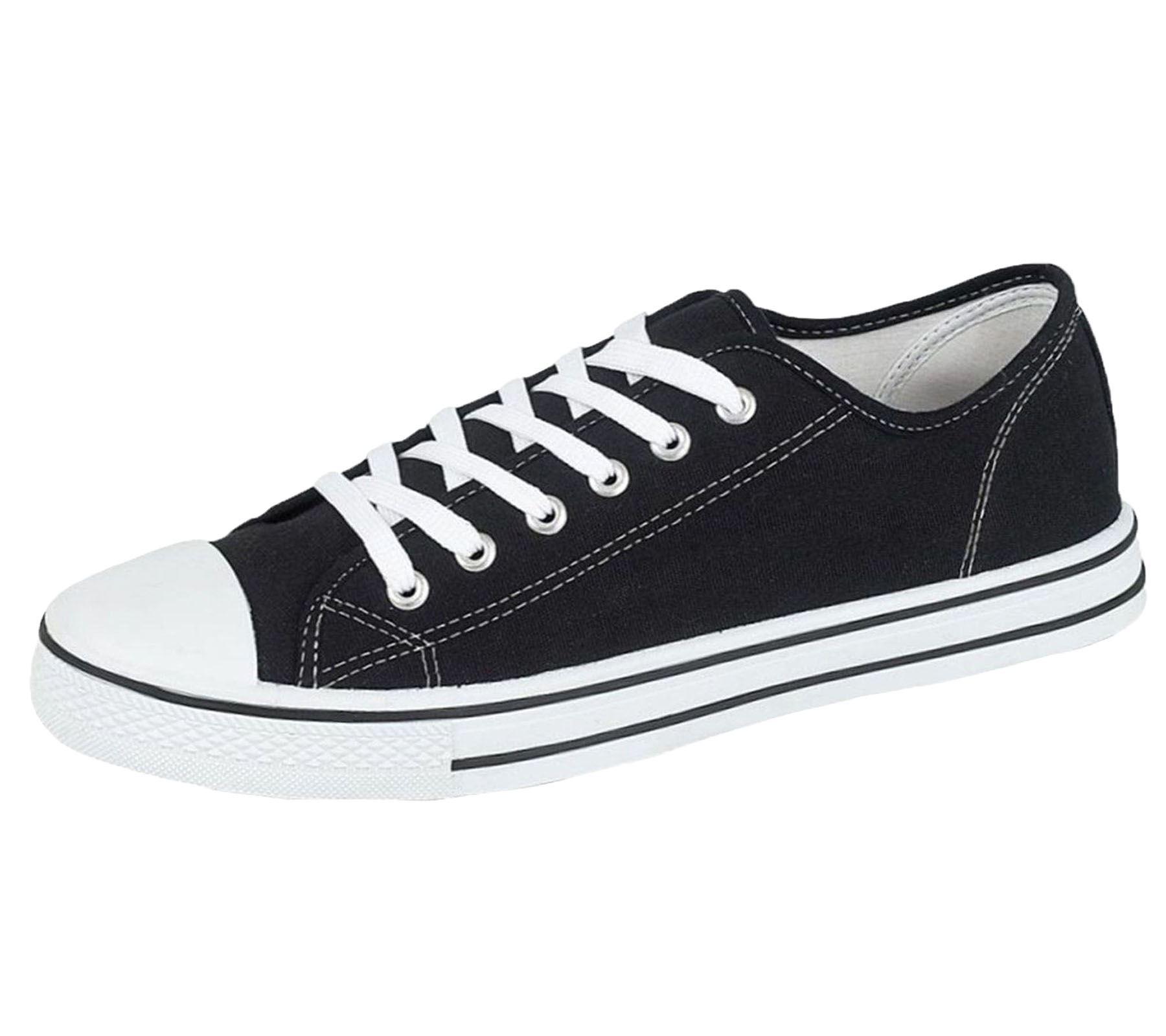 Mens-Canvas-Shoes-Plimsole-Trainer-Pumps-Lace-Up-Flat-Shoes thumbnail 13