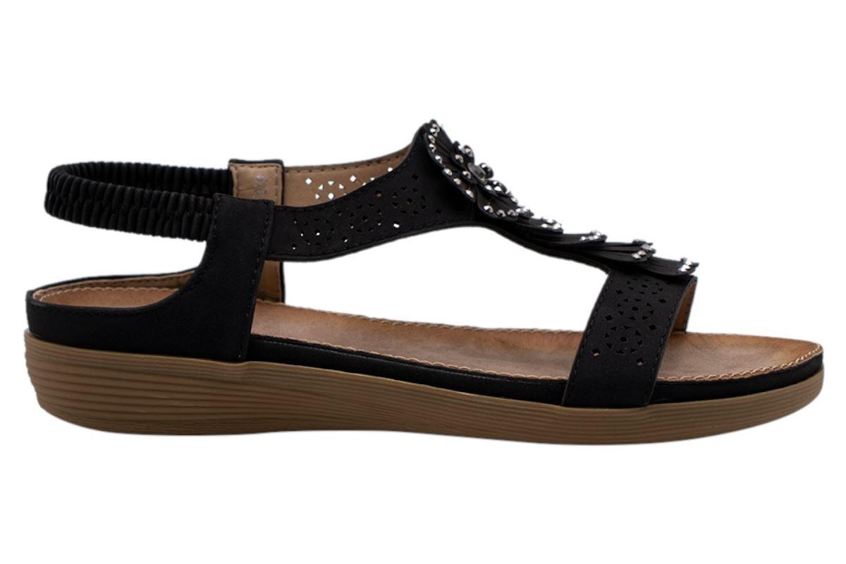 Ladies-Sandals-Womens-Shiny-Flat-Flip-Flop-Beach-Sliders miniatura 33