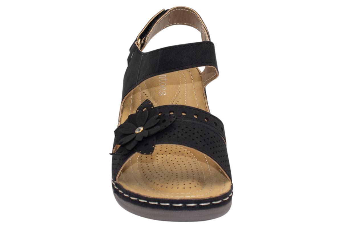 Ladies-Wedge-Heel-Sandal-Womens-Comfort-Cushion-Strapy-Summer-Shoes miniatura 23