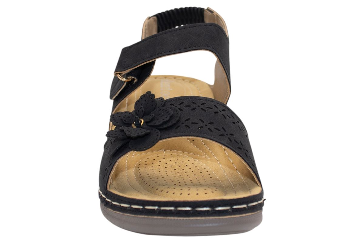 Ladies-Sandals-Womens-Mid-Heel-Comfort-Summer-Beach-Casual-Wear miniatura 35