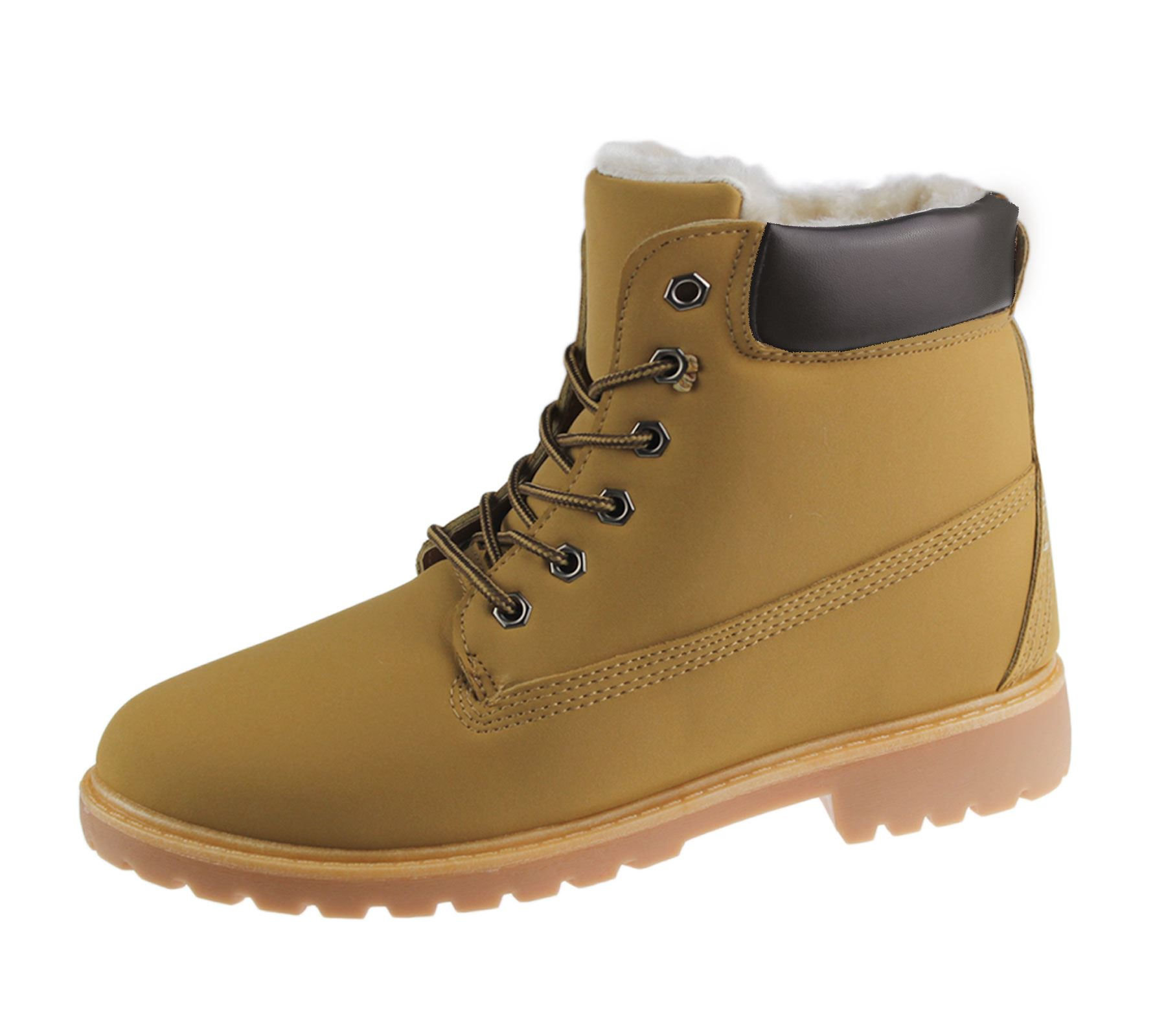 Womens Ladies Boots Grip Sole Military Combat Lace Up Ankle Smart Rubber Shoes