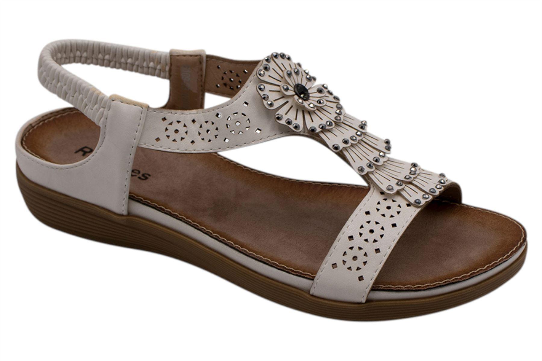 Ladies-Sandals-Womens-Shiny-Flat-Flip-Flop-Beach-Sliders miniatura 37