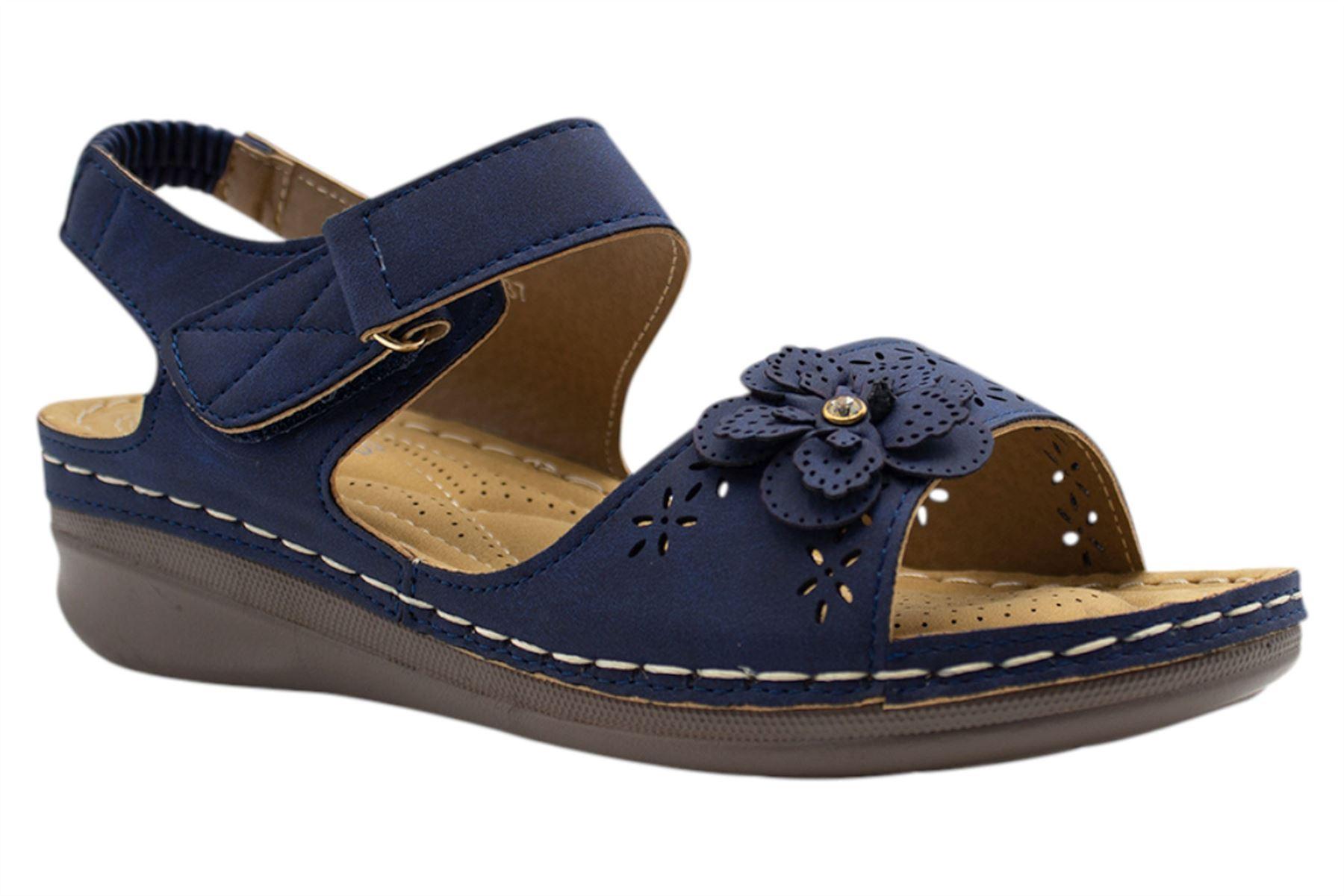 Ladies-Sandals-Womens-Mid-Heel-Comfort-Summer-Beach-Casual-Wear miniatura 33