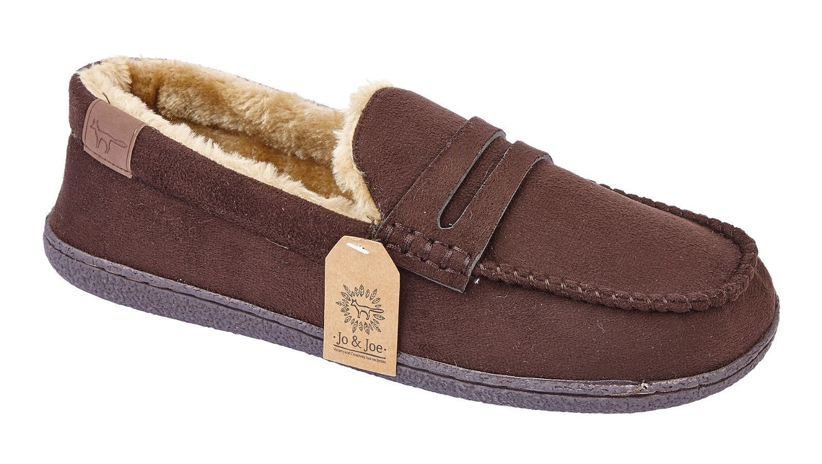 Mens-Faux-Suede-Leather-Moccasin-Slippers-Loafers-Casual-Shoes miniatura 5