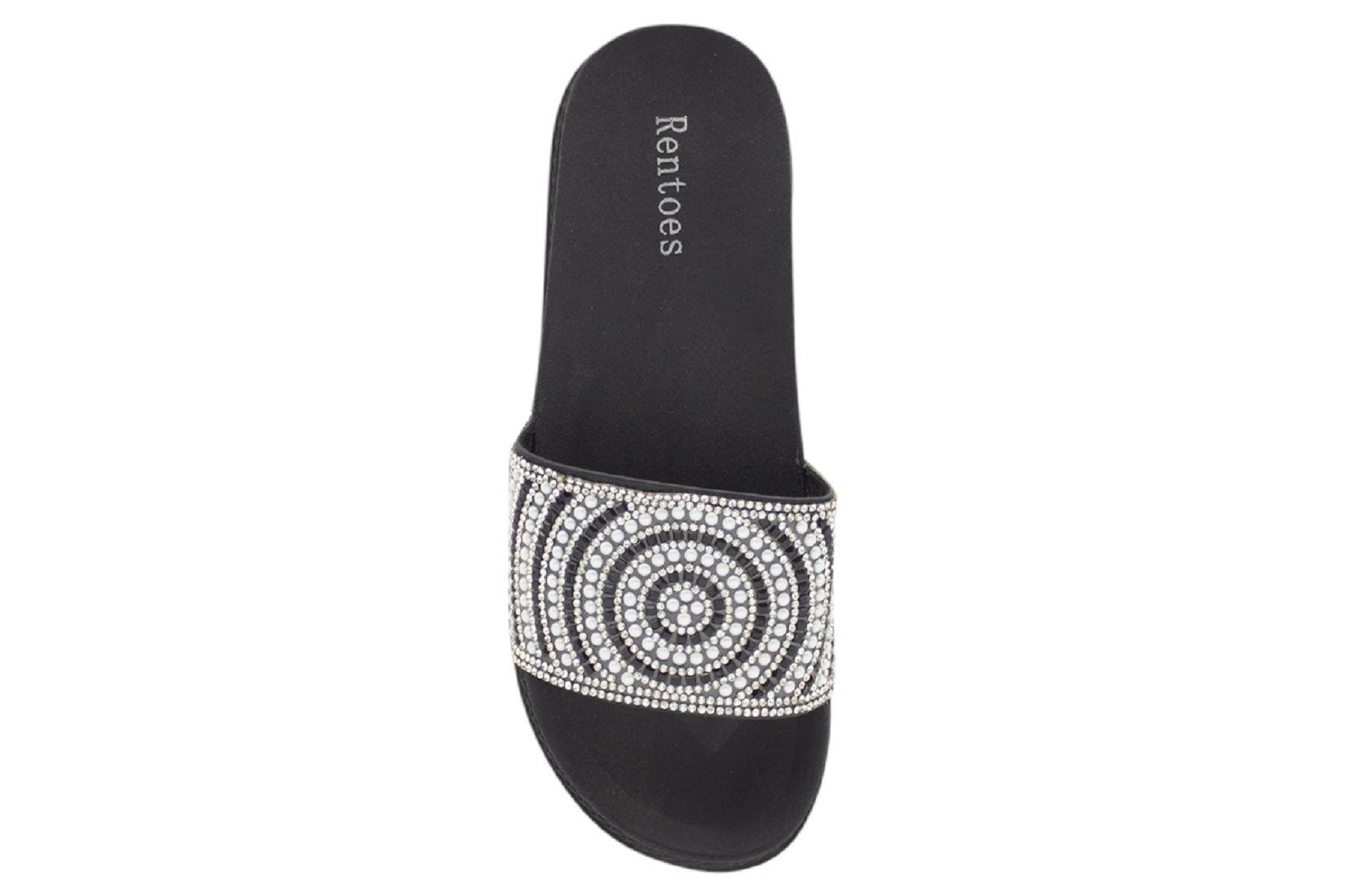 Womens-Sliders-Casual-Slippers-Mules-Ladies-Diamante-Flip-Flop-Sandals-Shoes thumbnail 104
