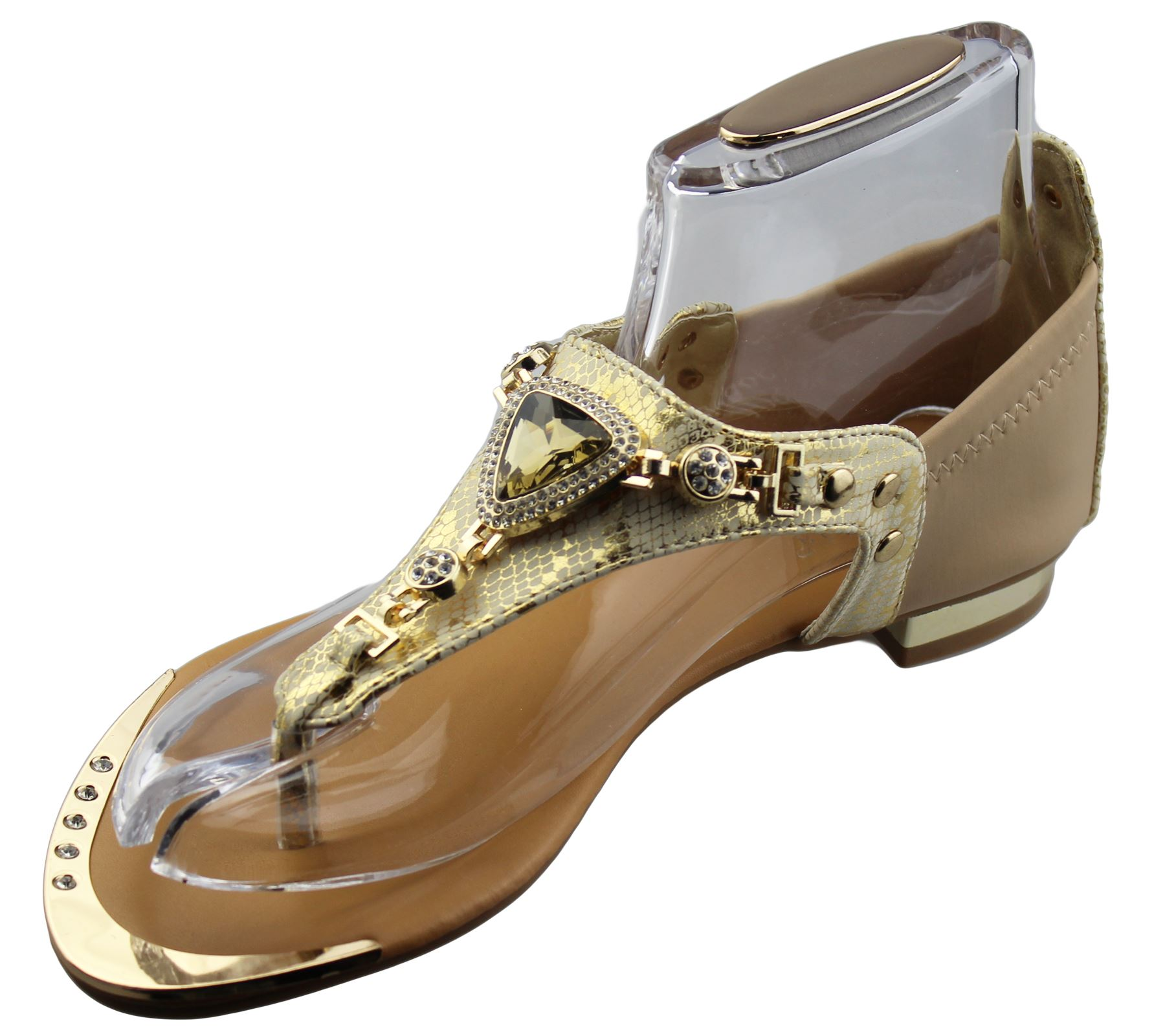 Womens-Flat-Summer-Sandals-Ladies-Diamante-Wedding-Toe-Post-Casual-Slipper thumbnail 15