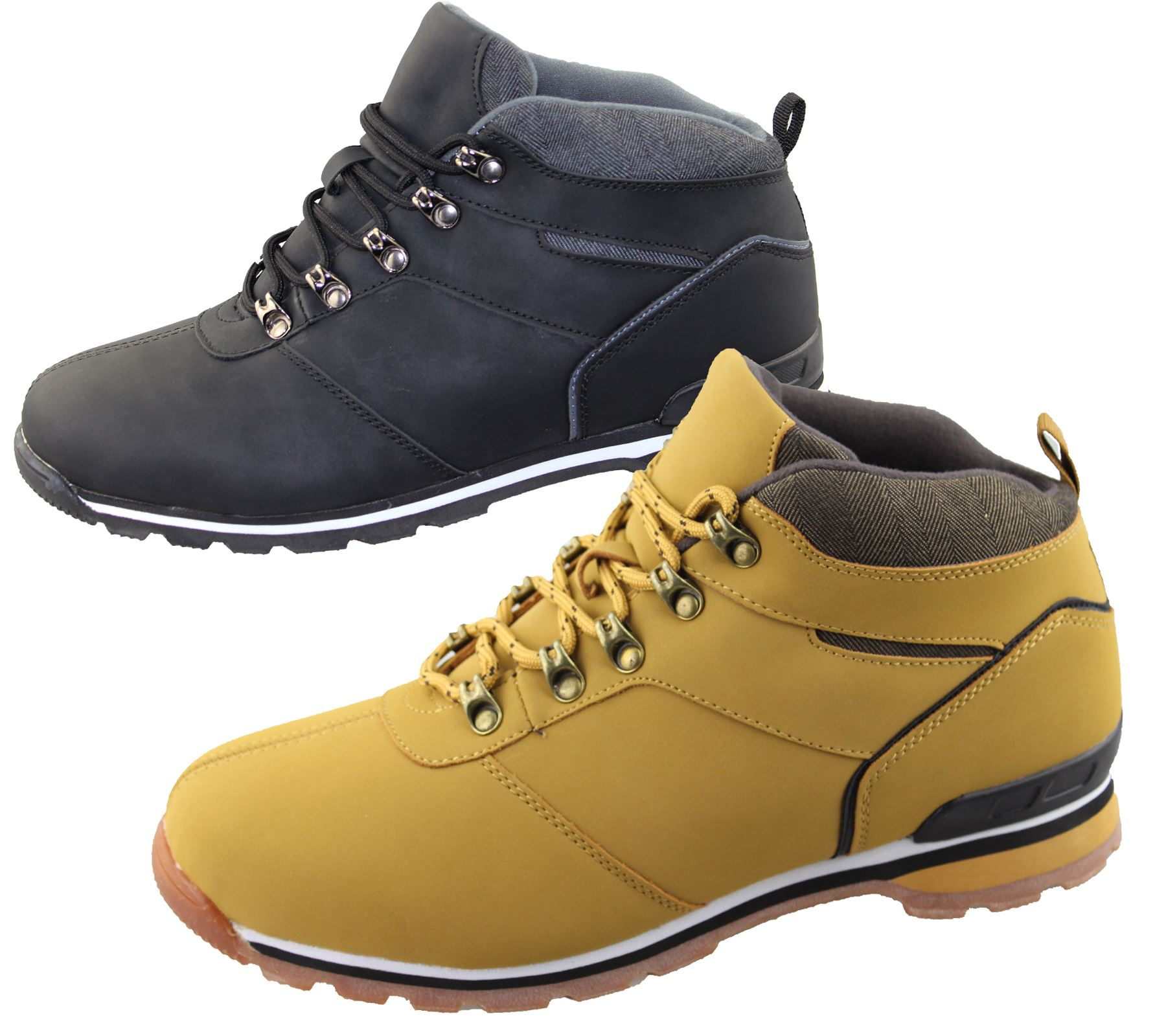 5af74a25d36 Mens Lace Up Boots Winter Combat Hiking Work High Top Ankle Shoes ...
