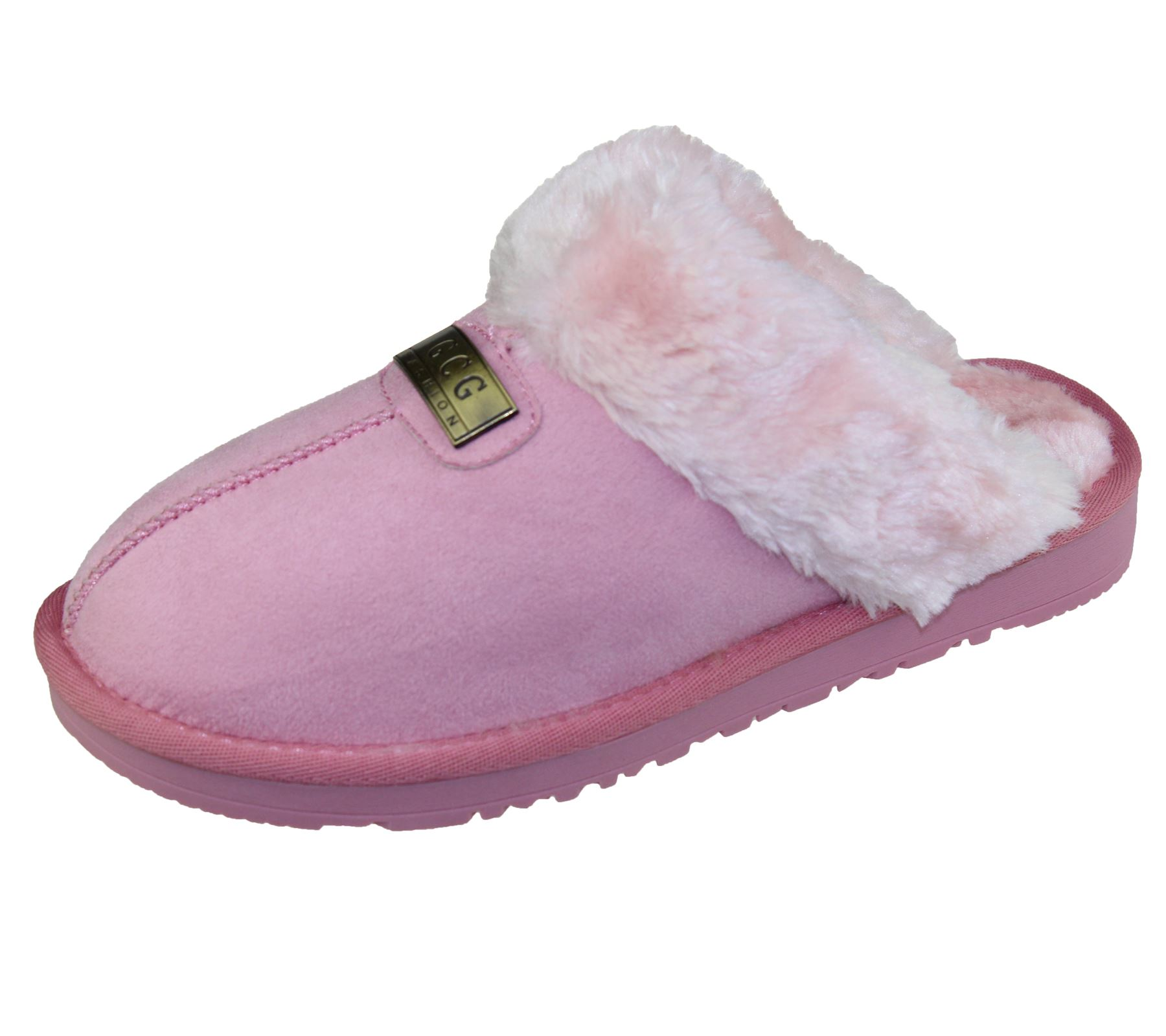 Womens-Fur-Lined-Slippers-Ladies-Mules-Non-Slip-Rubber-Sole-Shoes miniatura 31