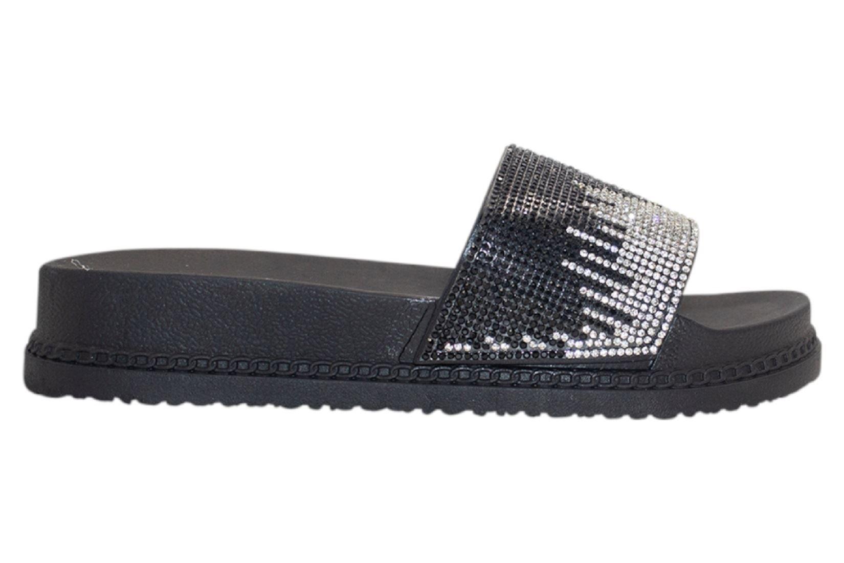 Womens-Sliders-Casual-Slippers-Mules-Ladies-Diamante-Flip-Flop-Sandals-Shoes thumbnail 15
