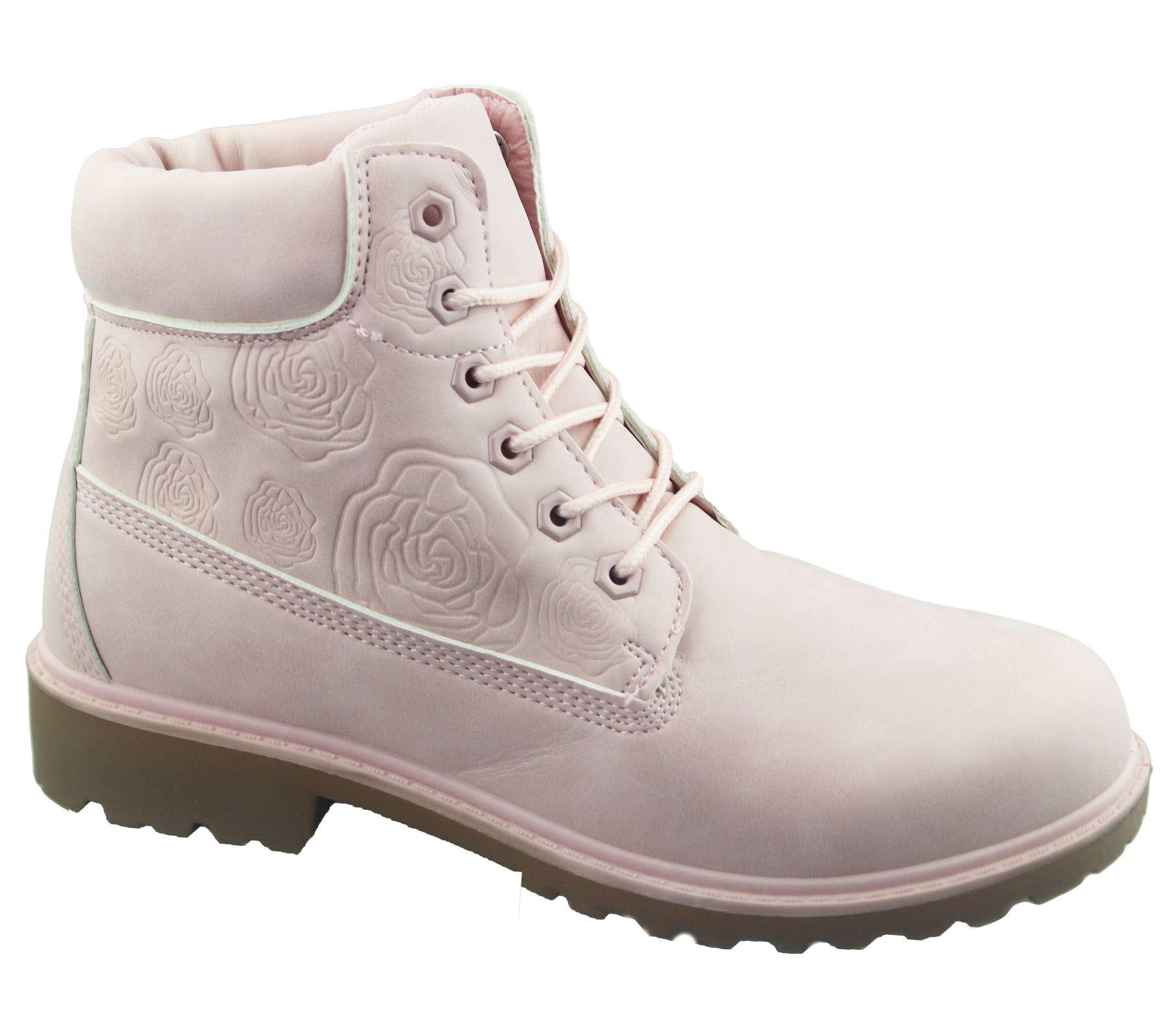 Mujer Botas al Tobillo Combate Desierto De Trabajo Senderismo Tobillo Alto Zapatos Con Cordones