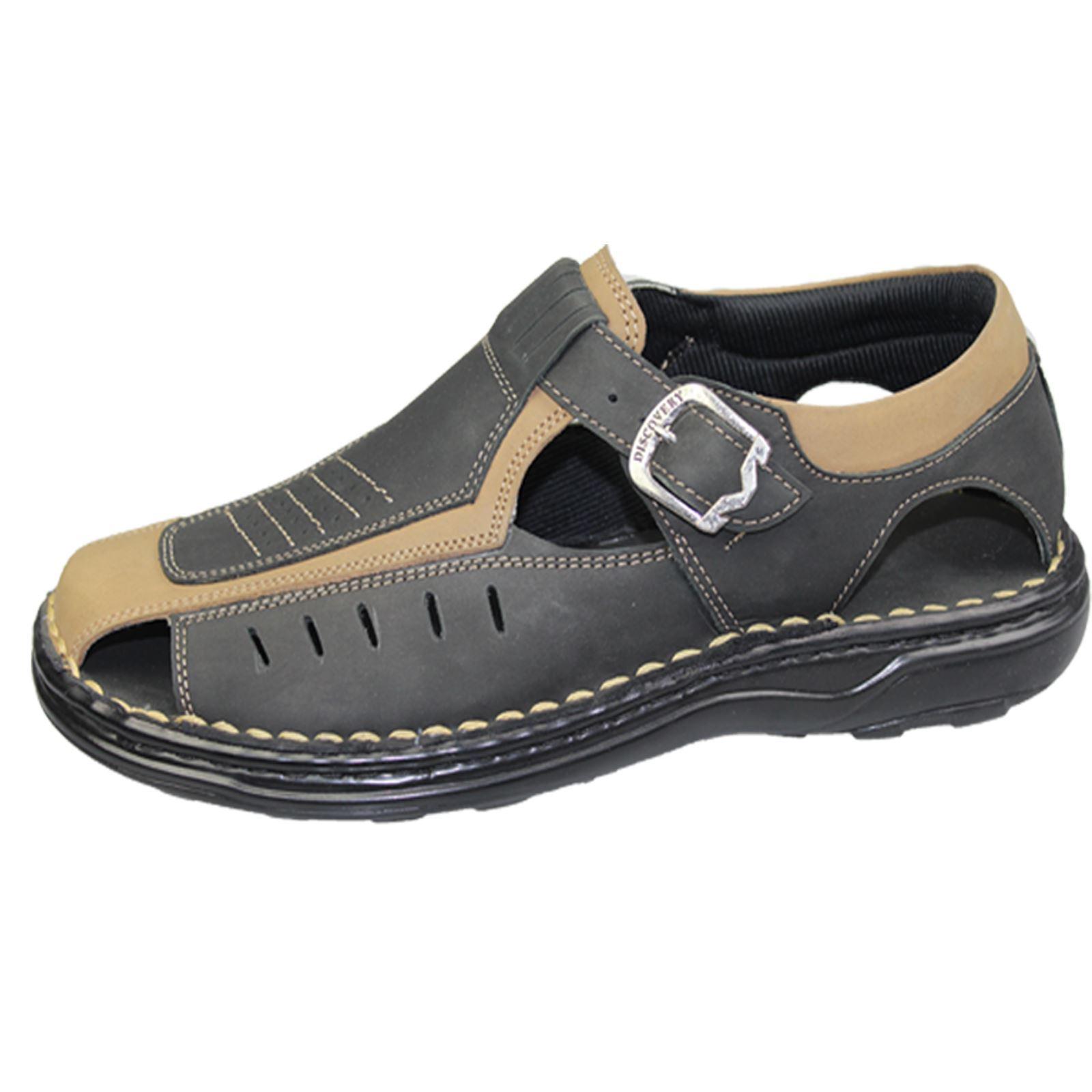 Mens-Buckle-Fastening-Sandals-Flat-Beach-Walking-Fashion-Casual-Summer-Slipper miniatura 5