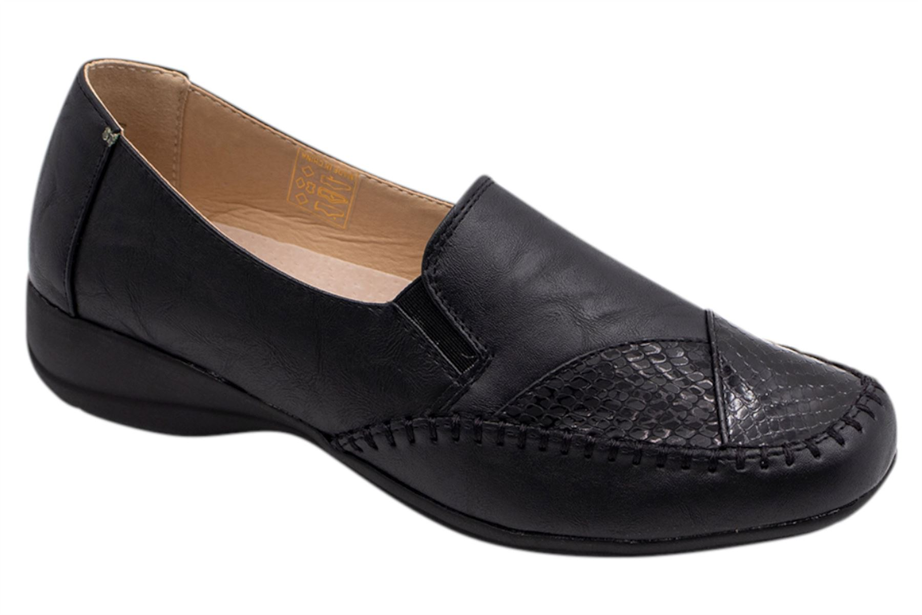 Womens-Flat-Shoes-Ladies-Pumps-Office-Work-Casual-Slip-On-Loafer-Size thumbnail 12