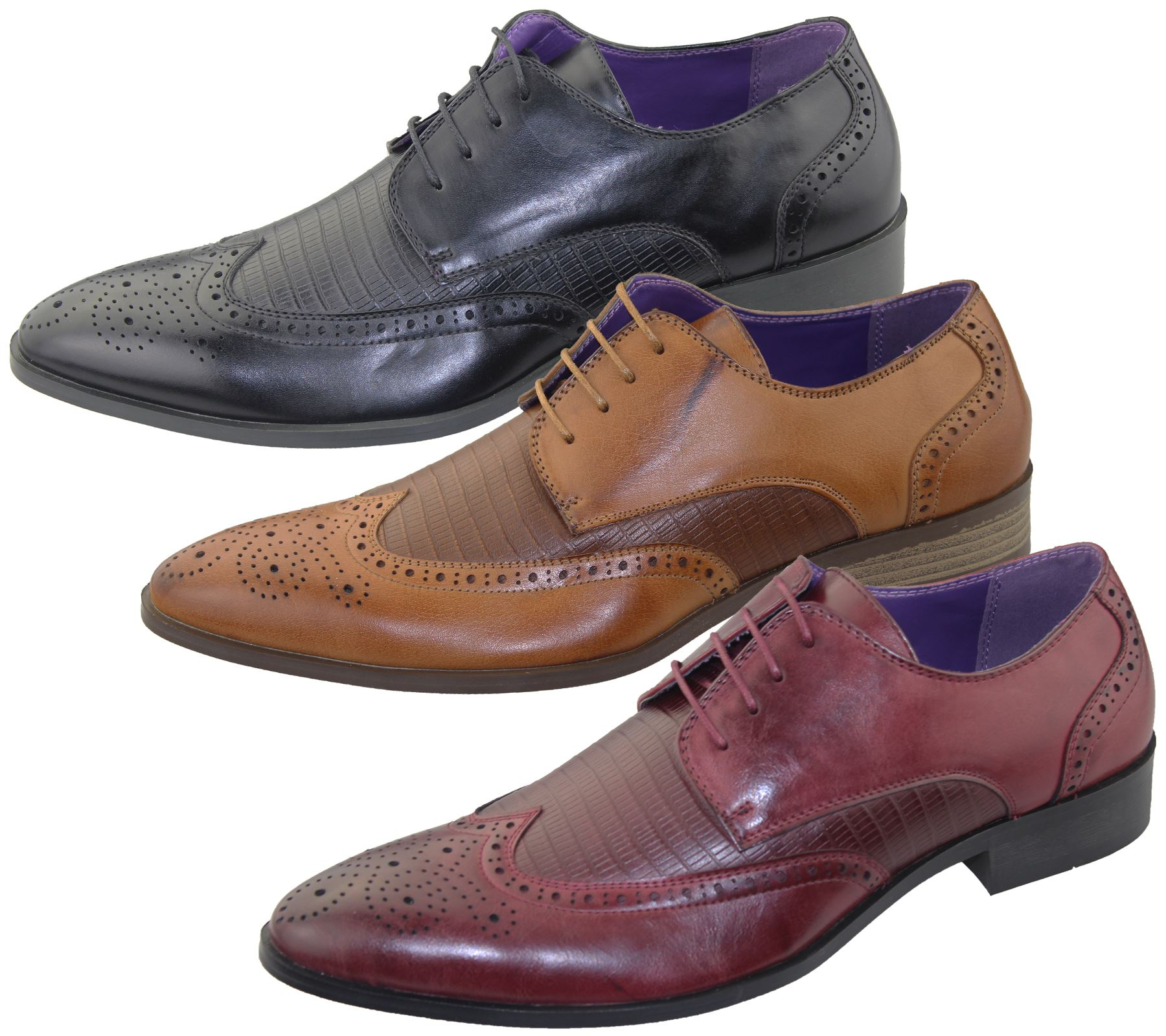 Details about  /Mens Business Slip On Brogues Shoes Formal Smart Casual Office Dress Shoes Sizes