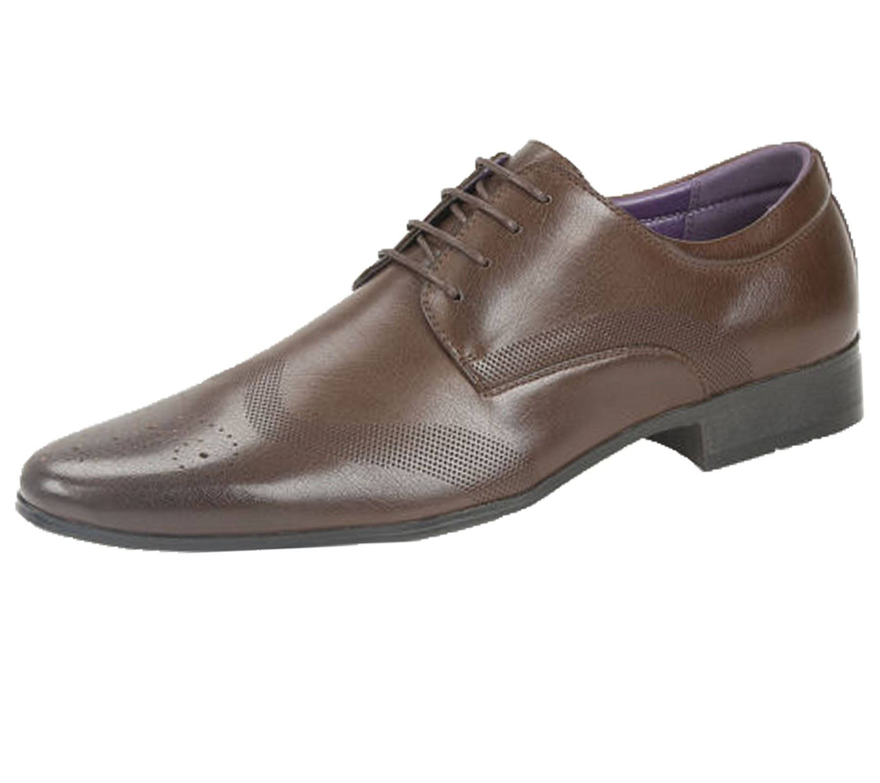 Mens-Brogues-Shoes-Office-Wedding-Formal-Smart-Dress-Shoes-New-Size miniatura 10