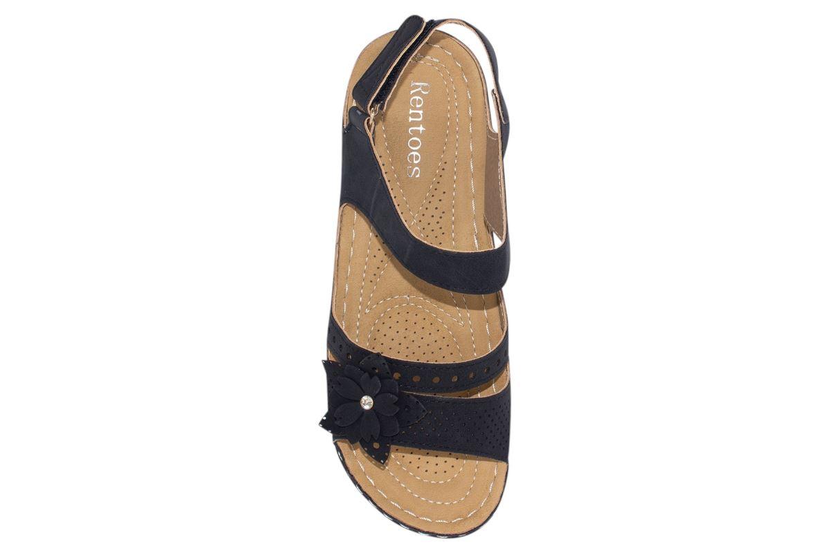Ladies-Wedge-Heel-Sandal-Womens-Comfort-Cushion-Strapy-Summer-Shoes miniatura 34
