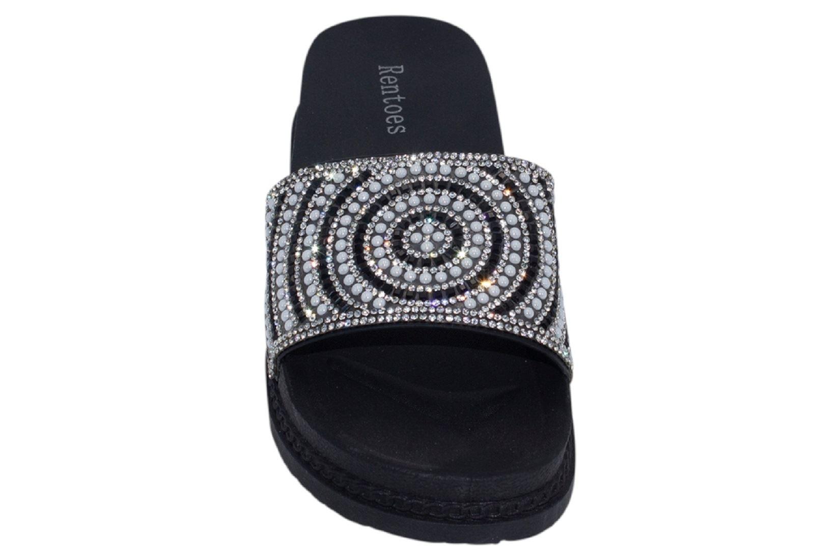 Womens-Sliders-Casual-Slippers-Mules-Ladies-Diamante-Flip-Flop-Sandals-Shoes thumbnail 46