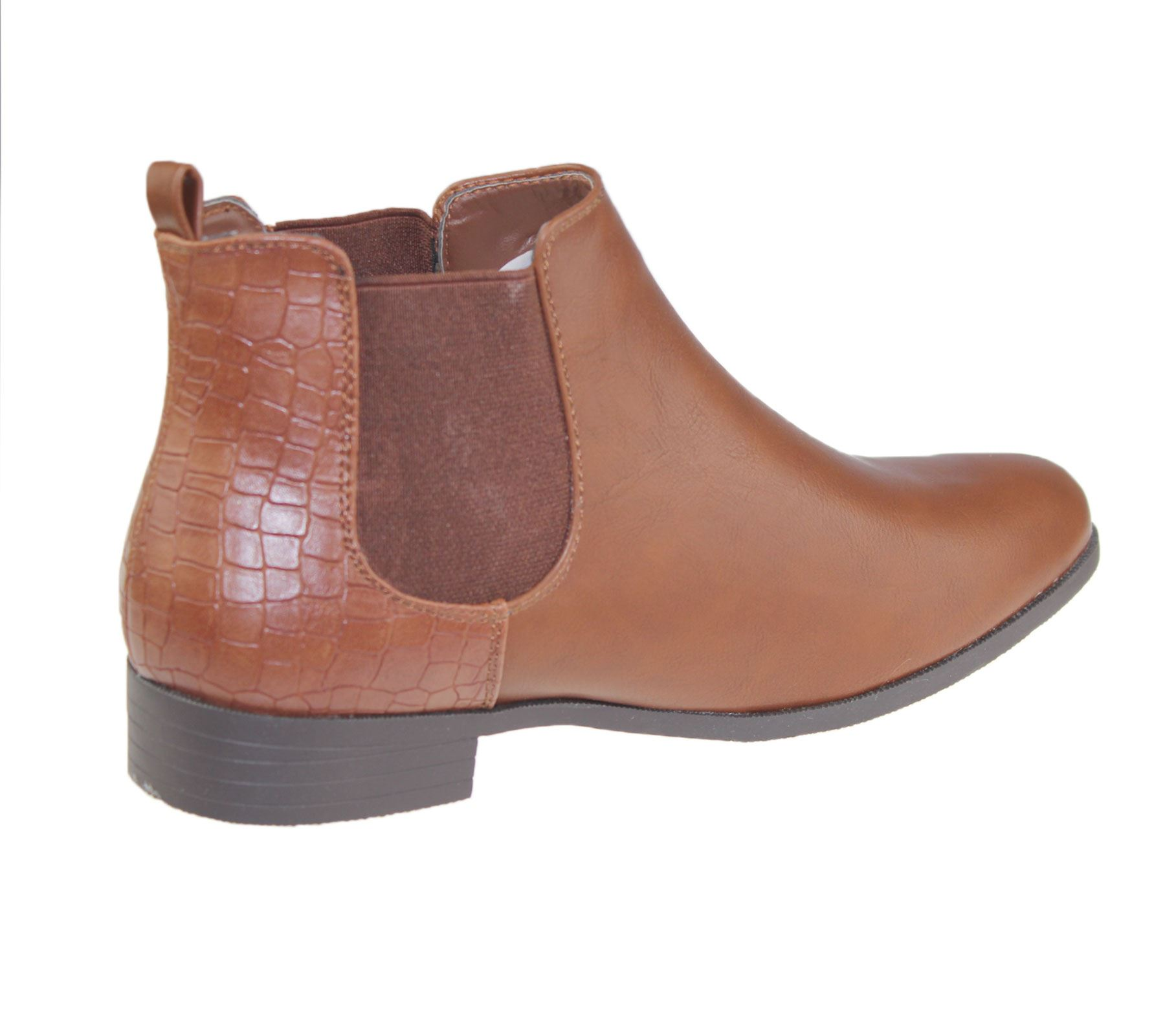 Womens-Ankle-Boots-Ladies-Chelsea-High-Top-Casual-Riding-Elasticated-Shoes-Size thumbnail 5