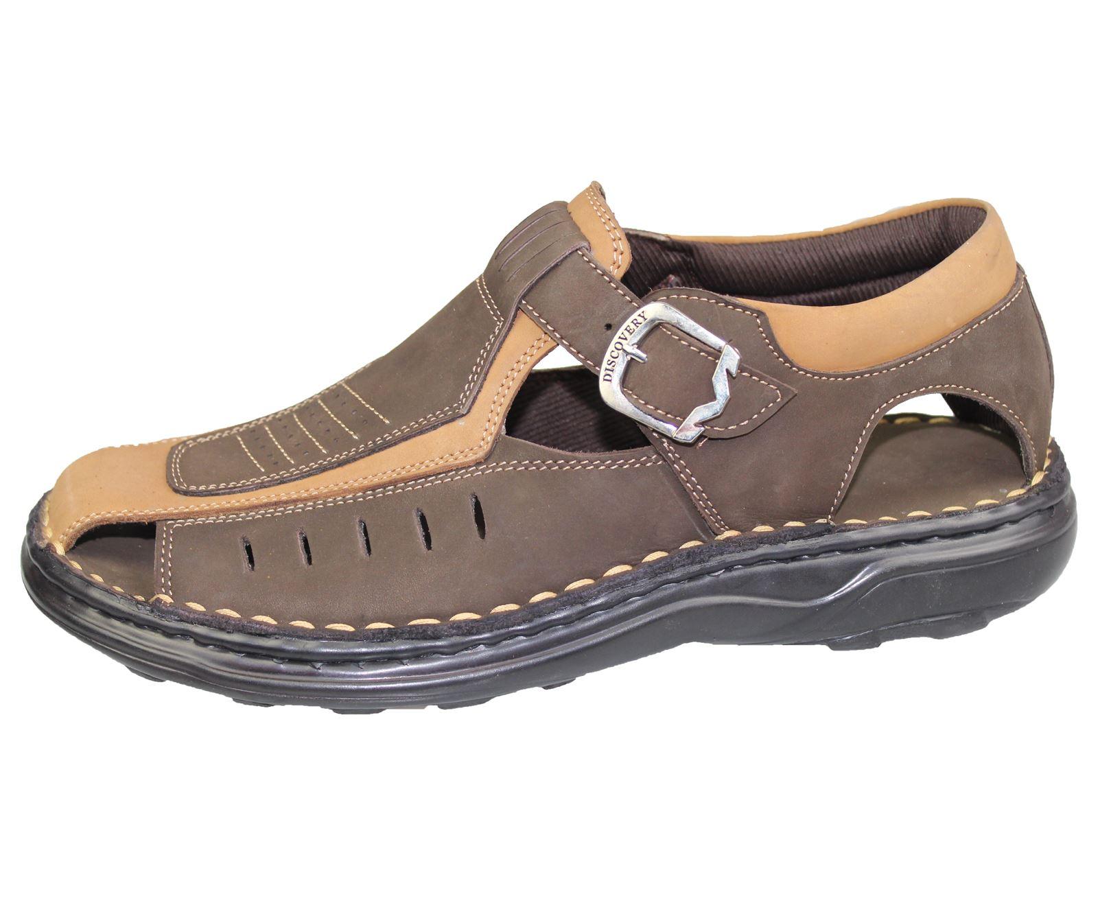 Mens-Buckle-Fastening-Sandals-Flat-Beach-Walking-Fashion-Casual-Summer-Slipper miniatura 13