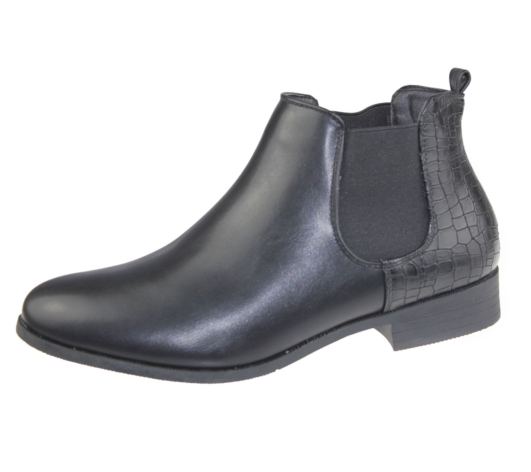 Womens Ankle Boots Ladies Chelsea High Top Casual Riding