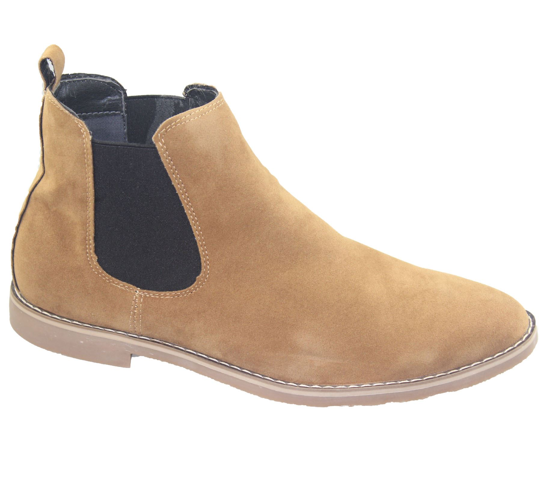 Mens Chelsea Boots Faux Suede Office Casual Dress Desert ...