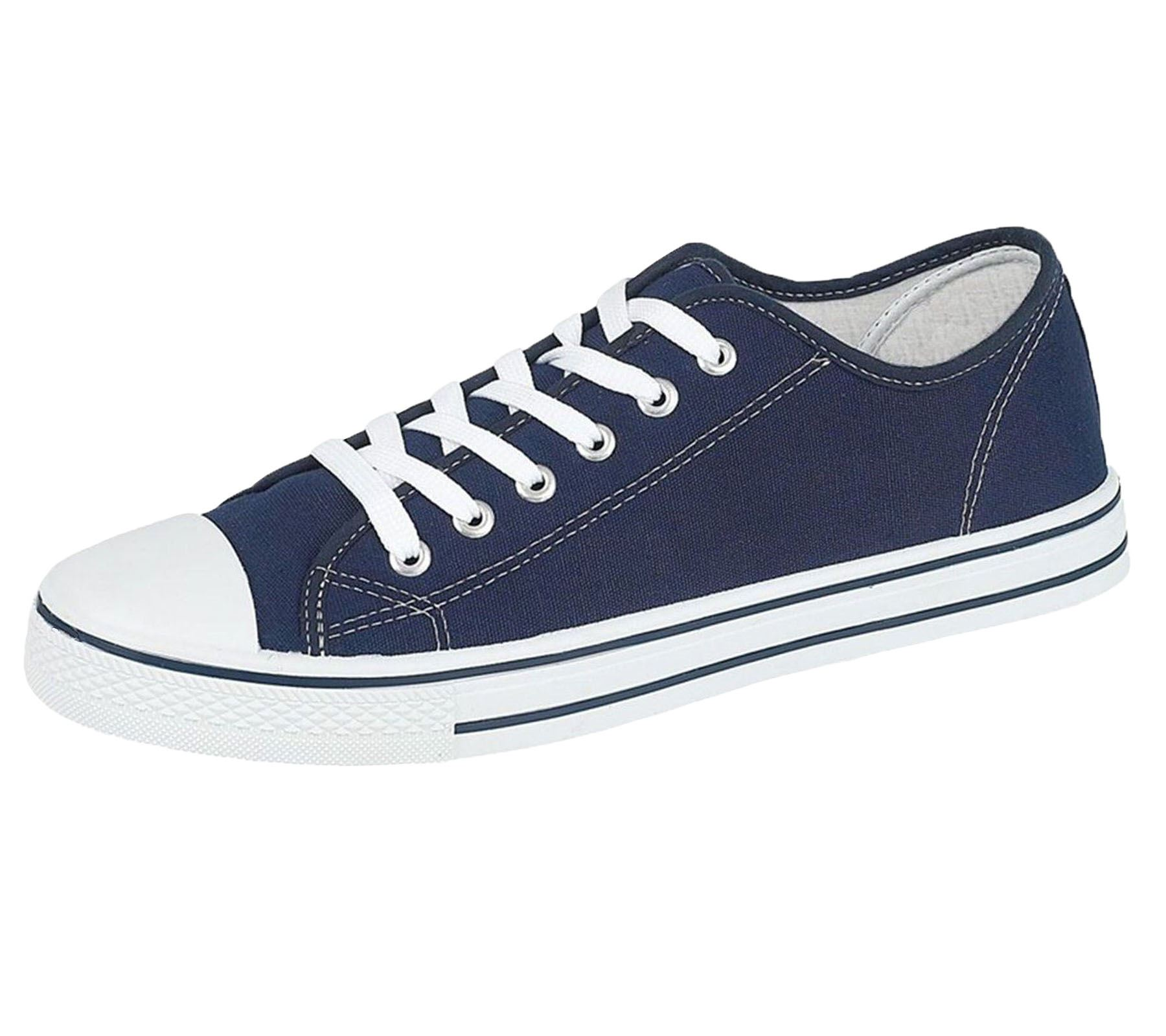 Mens-Canvas-Shoes-Plimsole-Trainer-Pumps-Lace-Up-Flat-Shoes thumbnail 21