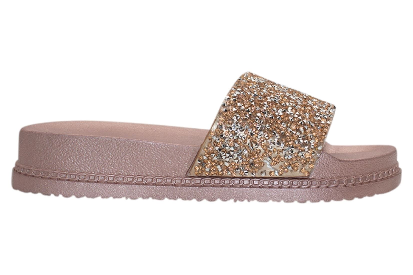 Womens-Sliders-Casual-Slippers-Mules-Ladies-Diamante-Flip-Flop-Sandals-Shoes thumbnail 26