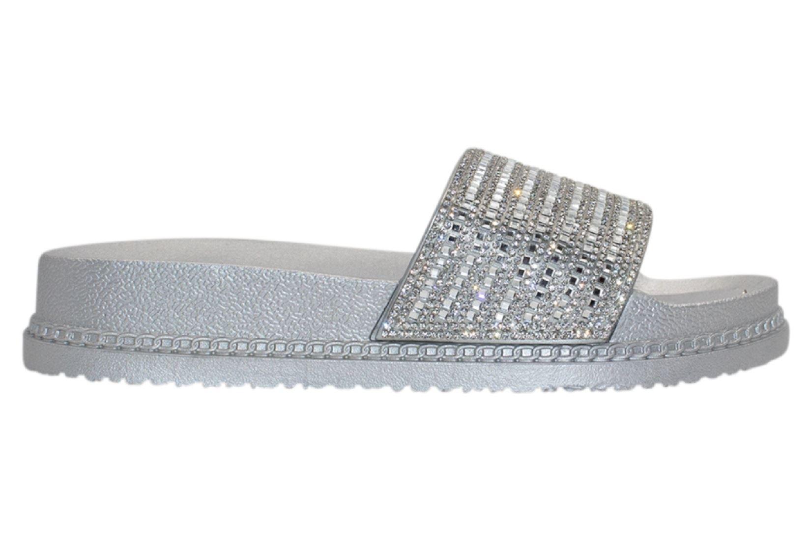 Womens-Sliders-Casual-Slippers-Mules-Ladies-Diamante-Flip-Flop-Sandals-Shoes thumbnail 67