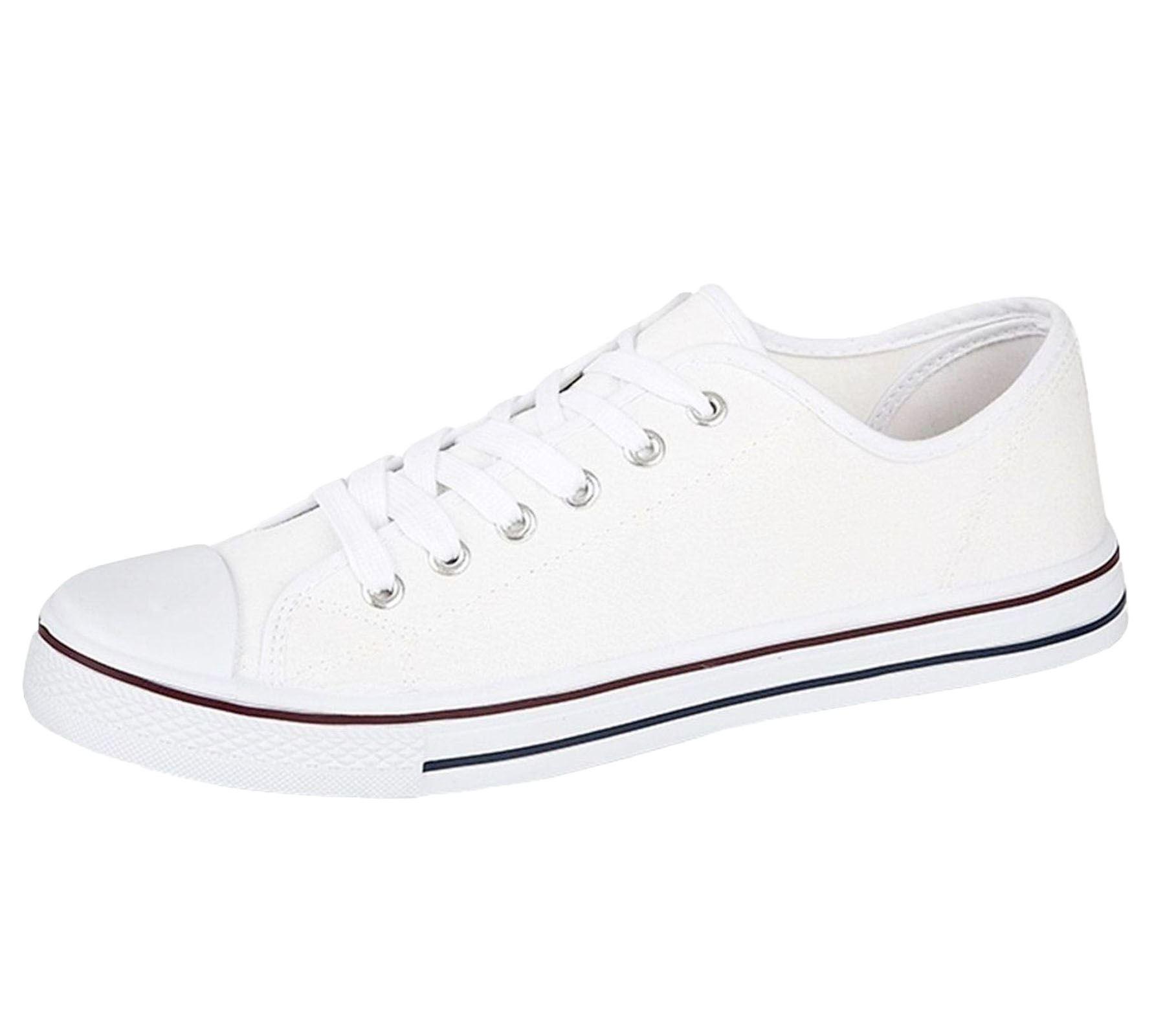 Mens-Canvas-Shoes-Plimsole-Trainer-Pumps-Lace-Up-Flat-Shoes thumbnail 17