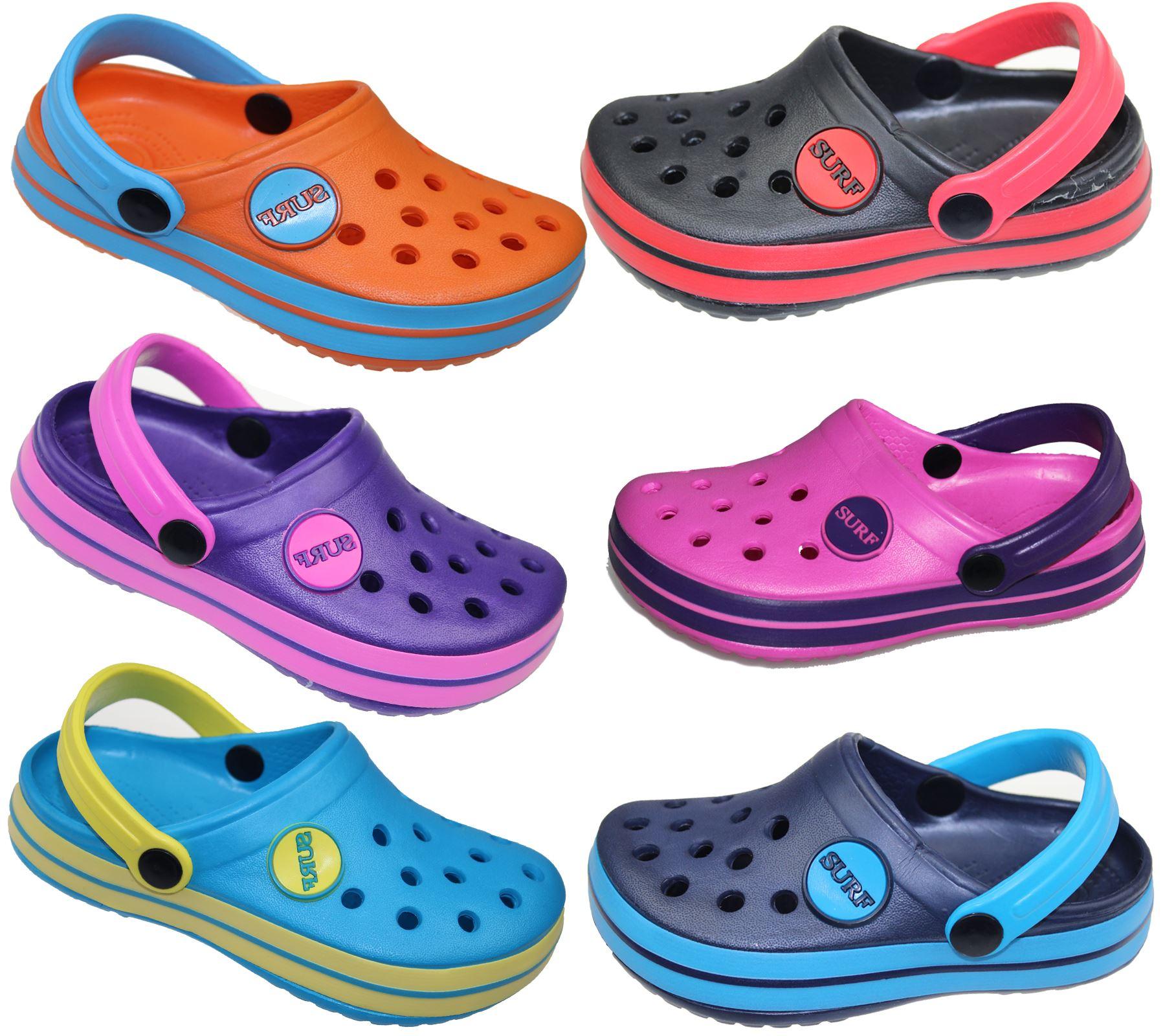 Kids Boys Girls Unisex Clogs Casual Slipper Pu Mules