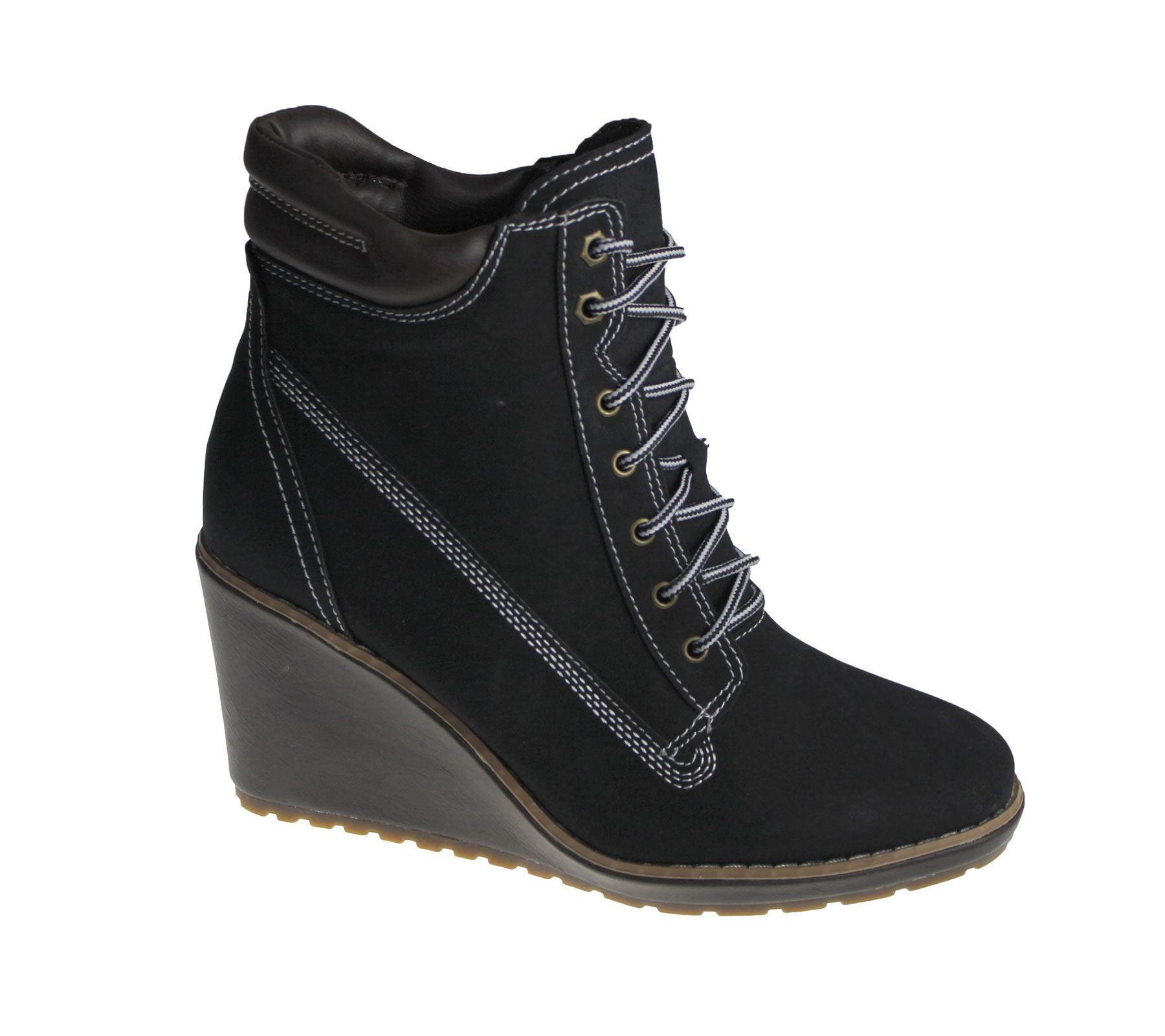 c665eb3391a Style  High Top Boots Heel  Wedge Fastening  Lace Up Sole  Rubber Material   Synthetic Smart and stylish