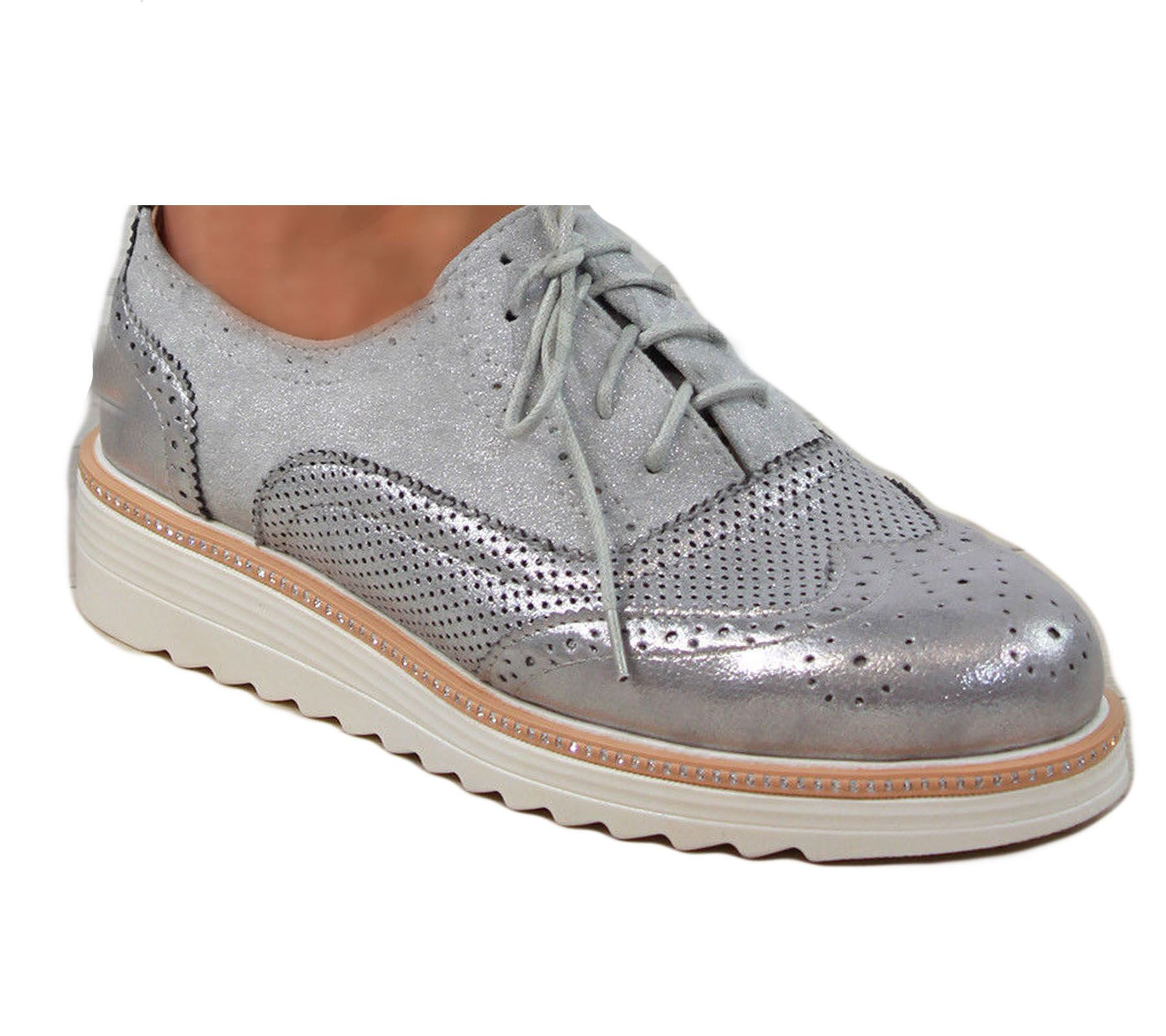 Ladies-Brogue-Lace-Up-Shoes-Womens-Oxford-Smart-Office-Loafers-Shoes miniatura 21