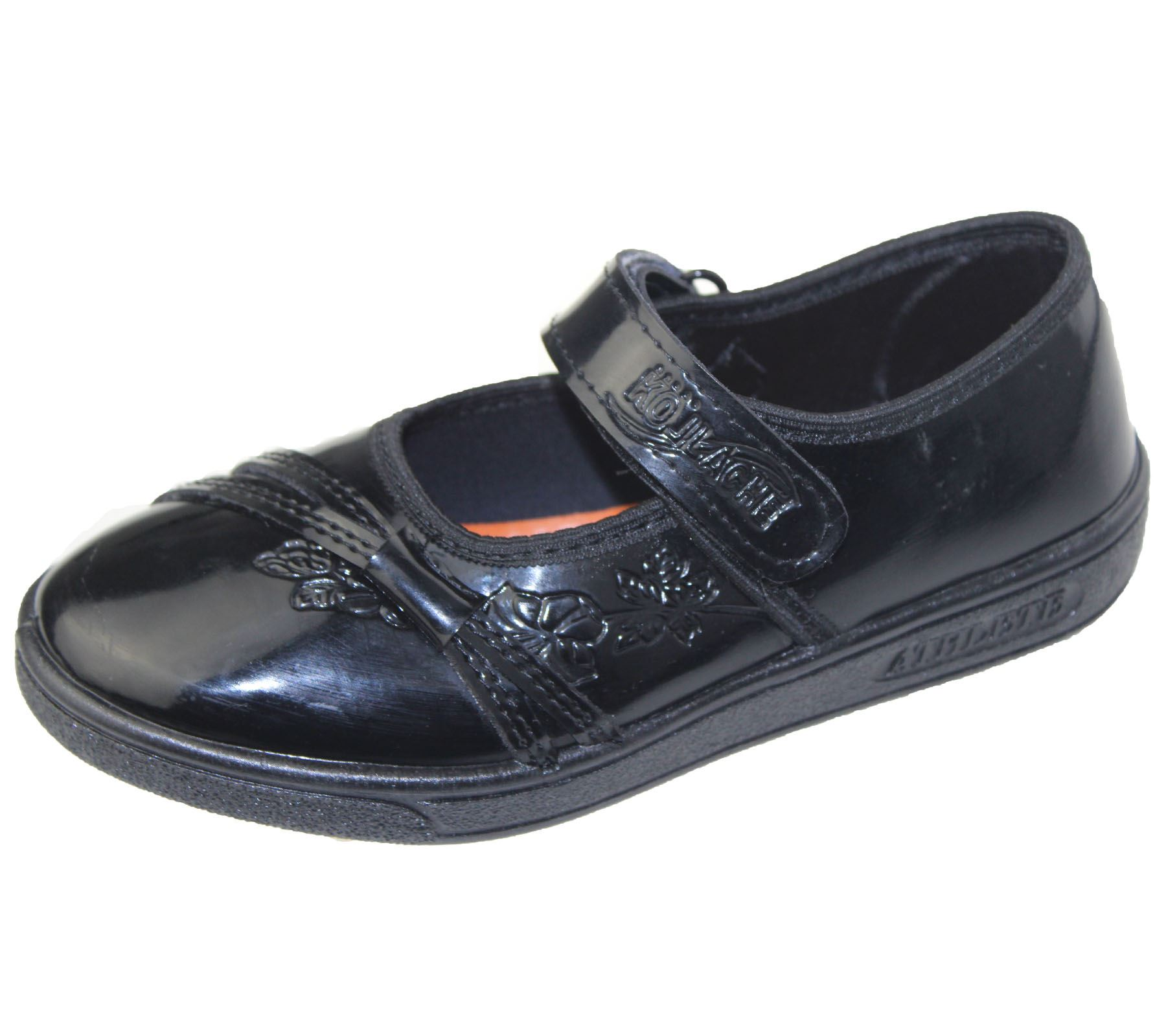 Girls School Shoes Formal Black Wedding Patent Infant Christening Shoes