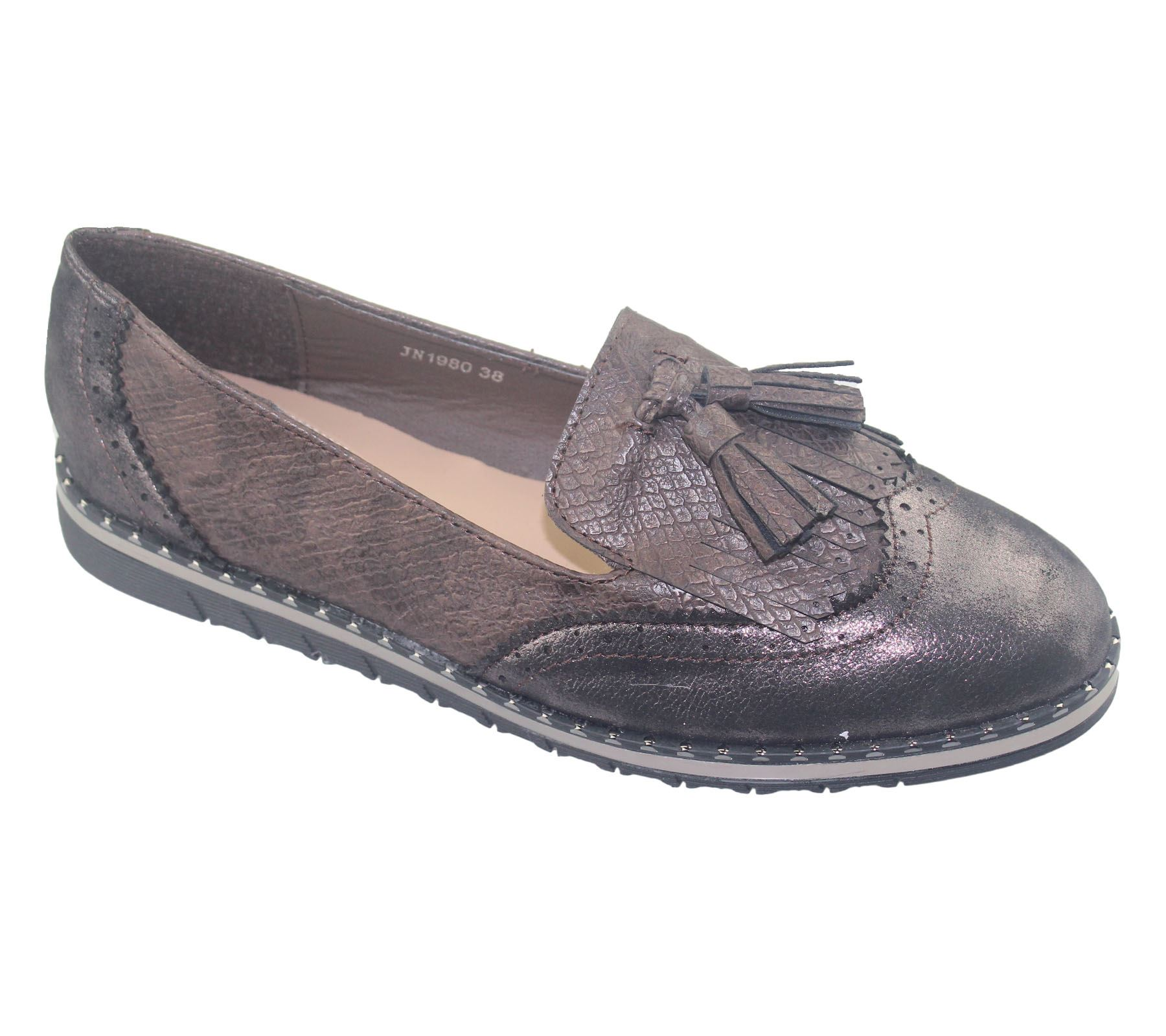 Women-Brogue-Shoes-Ladies-Tassel-Oxford-Office-Snack-Pattent-Loafers-Pumps thumbnail 12