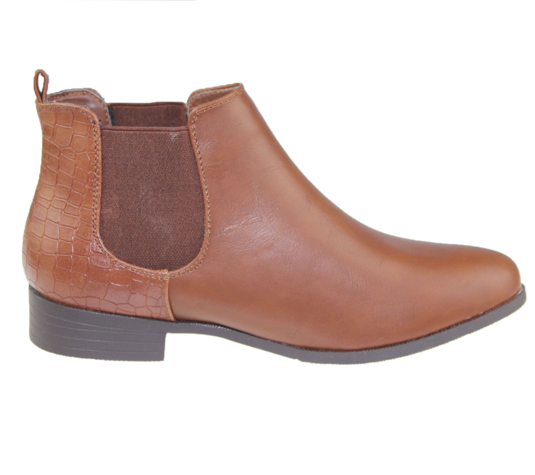 Womens-Ankle-Boots-Ladies-Chelsea-High-Top-Casual-Riding-Elasticated-Shoes-Size thumbnail 6