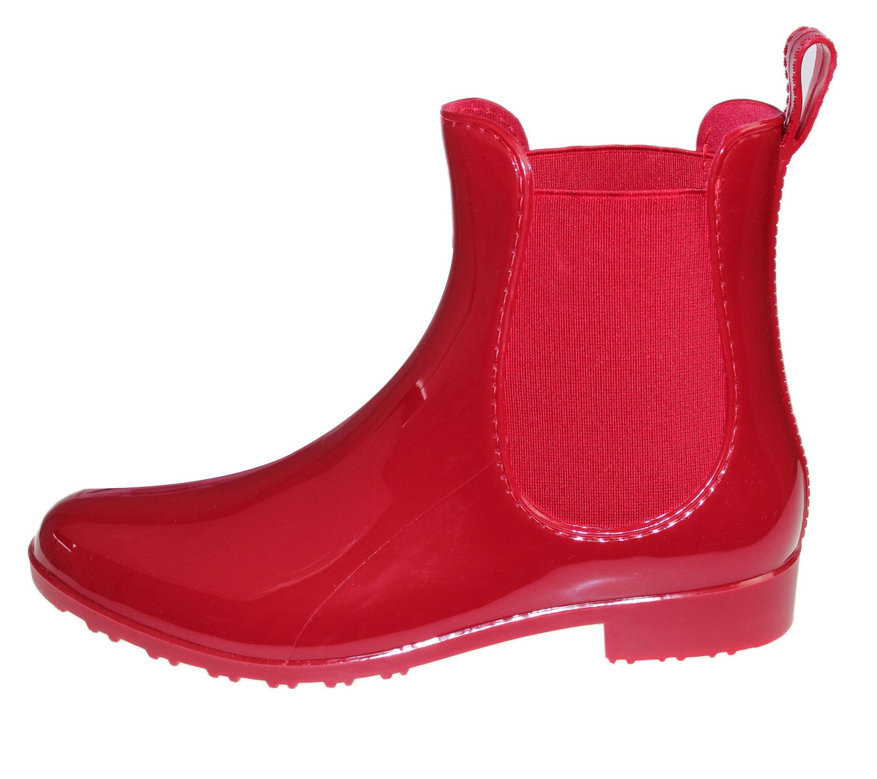 Womens Wellington Ankle Boots Ladies Patent Gust Wellies Rain Snow Boots Jelly Chelsea Shoes
