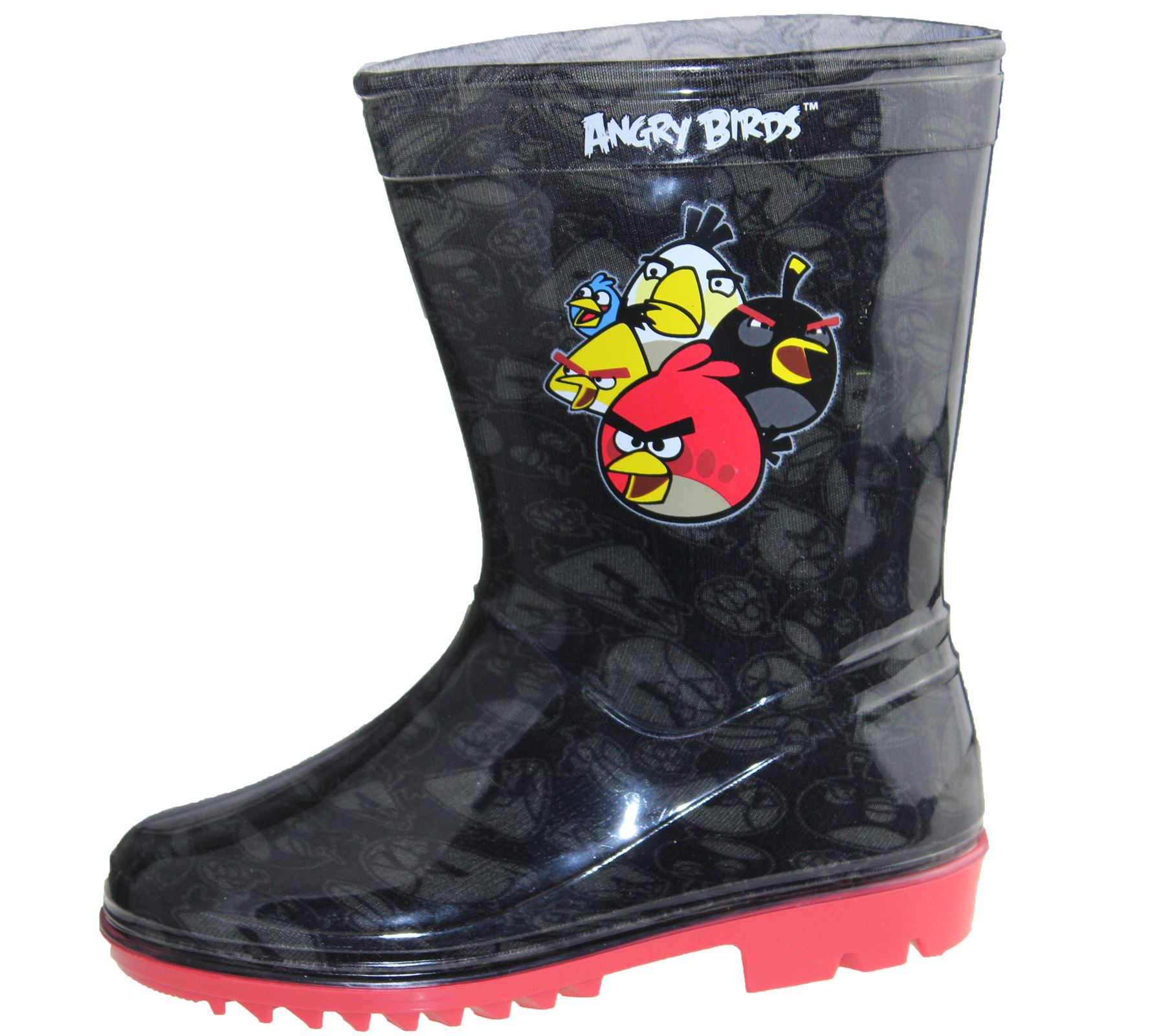 Boys Wellington Girls Wellies Kids Unisex Rain Snow Rubber Angry Birds Boots