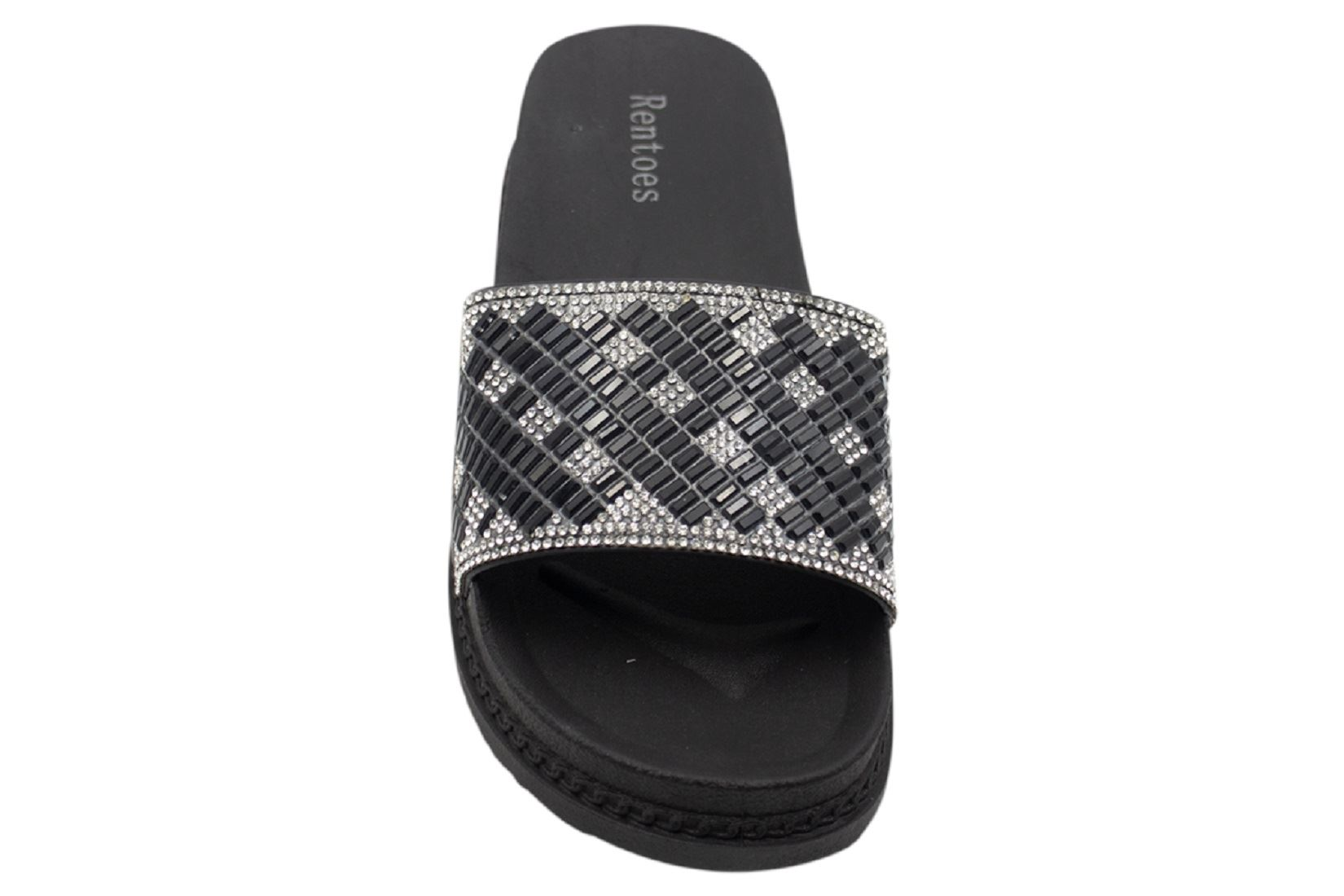 Womens-Sliders-Casual-Slippers-Mules-Ladies-Diamante-Flip-Flop-Sandals-Shoes thumbnail 73