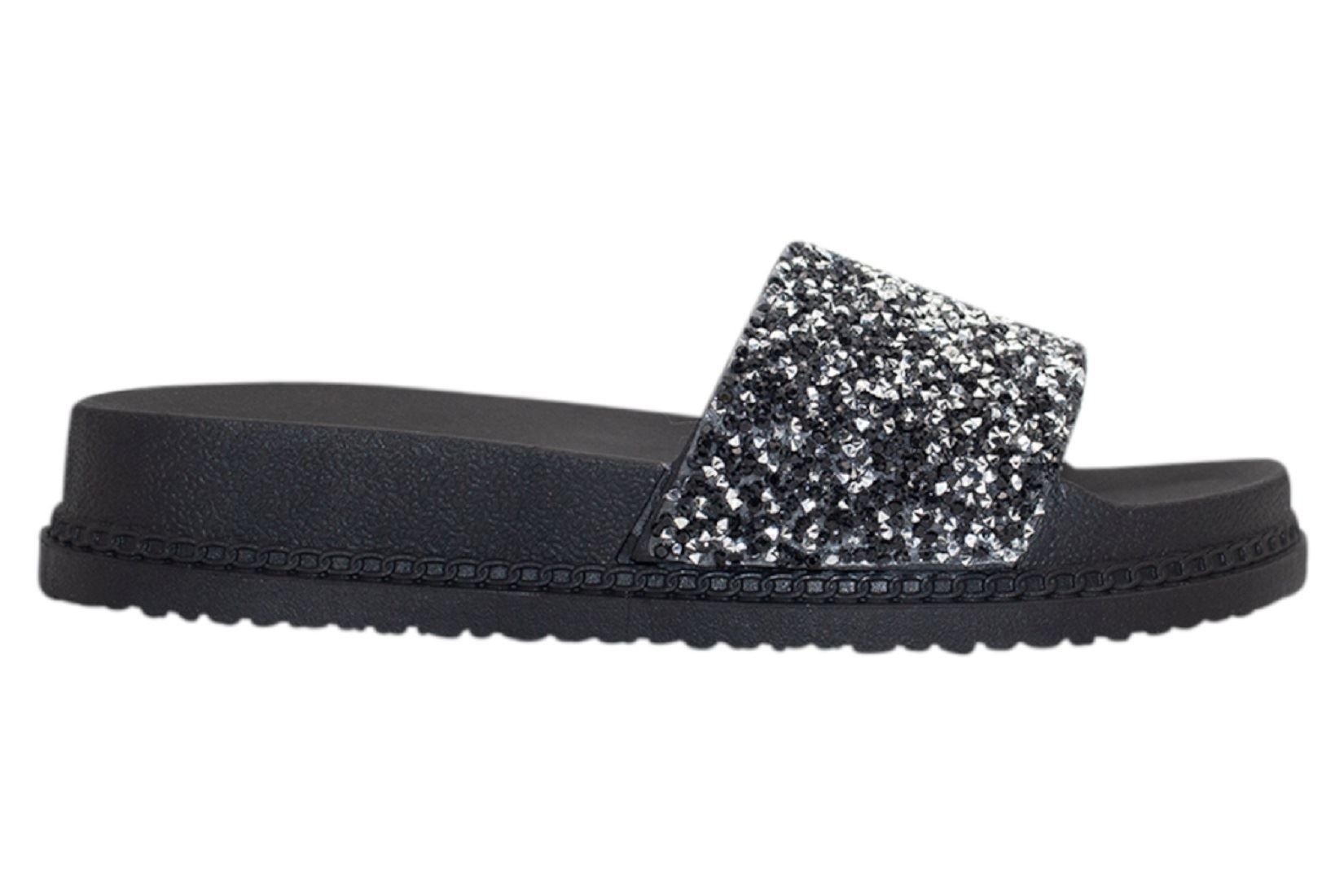 Womens-Sliders-Casual-Slippers-Mules-Ladies-Diamante-Flip-Flop-Sandals-Shoes thumbnail 6